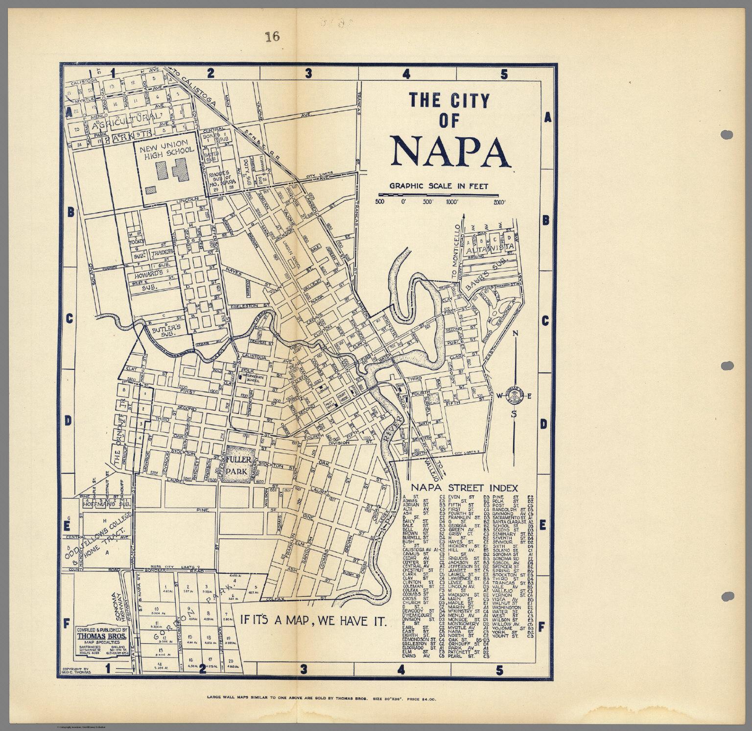 Map Of Napa Ca City of Napa, California.   David Rumsey Historical Map Collection Map Of Napa Ca