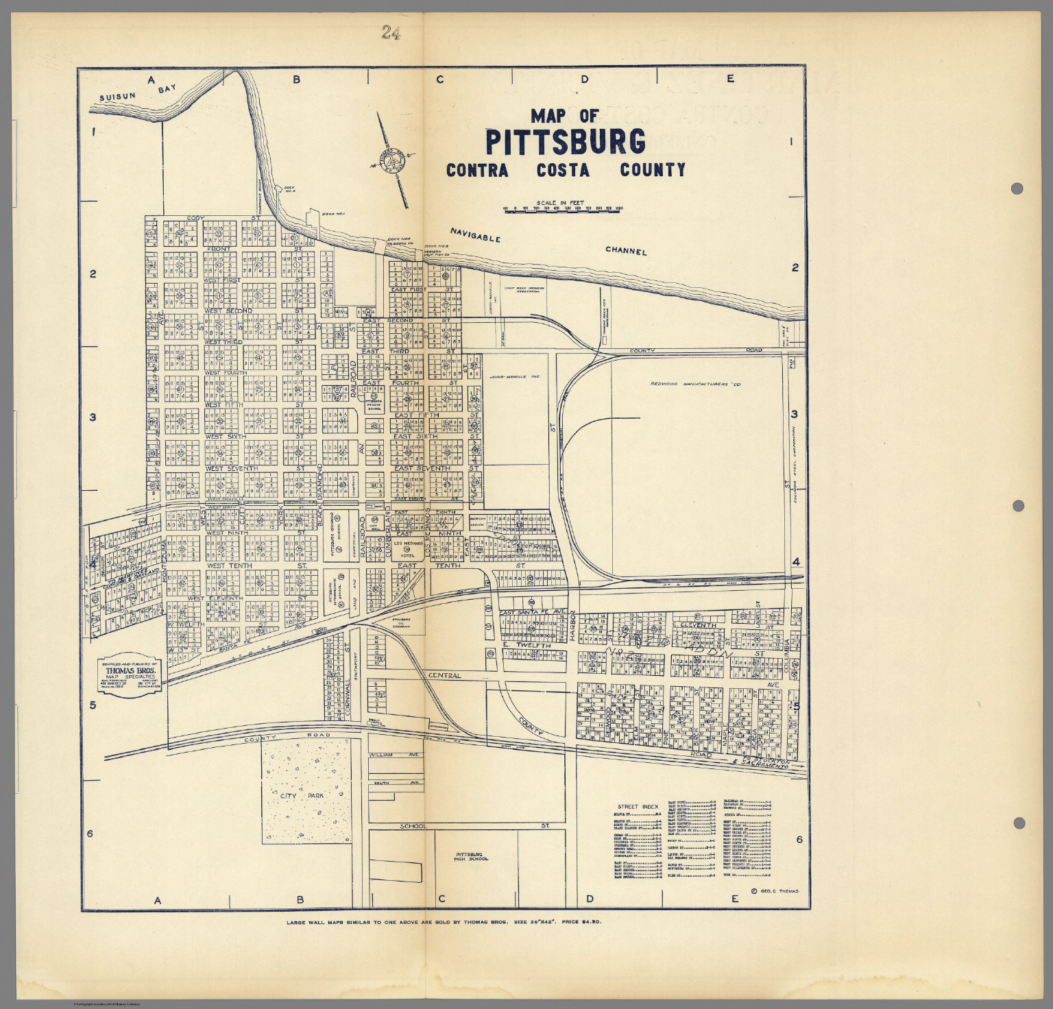 Image of: Map Of Pittsburg Contra Costa County California David Rumsey Historical Map Collection