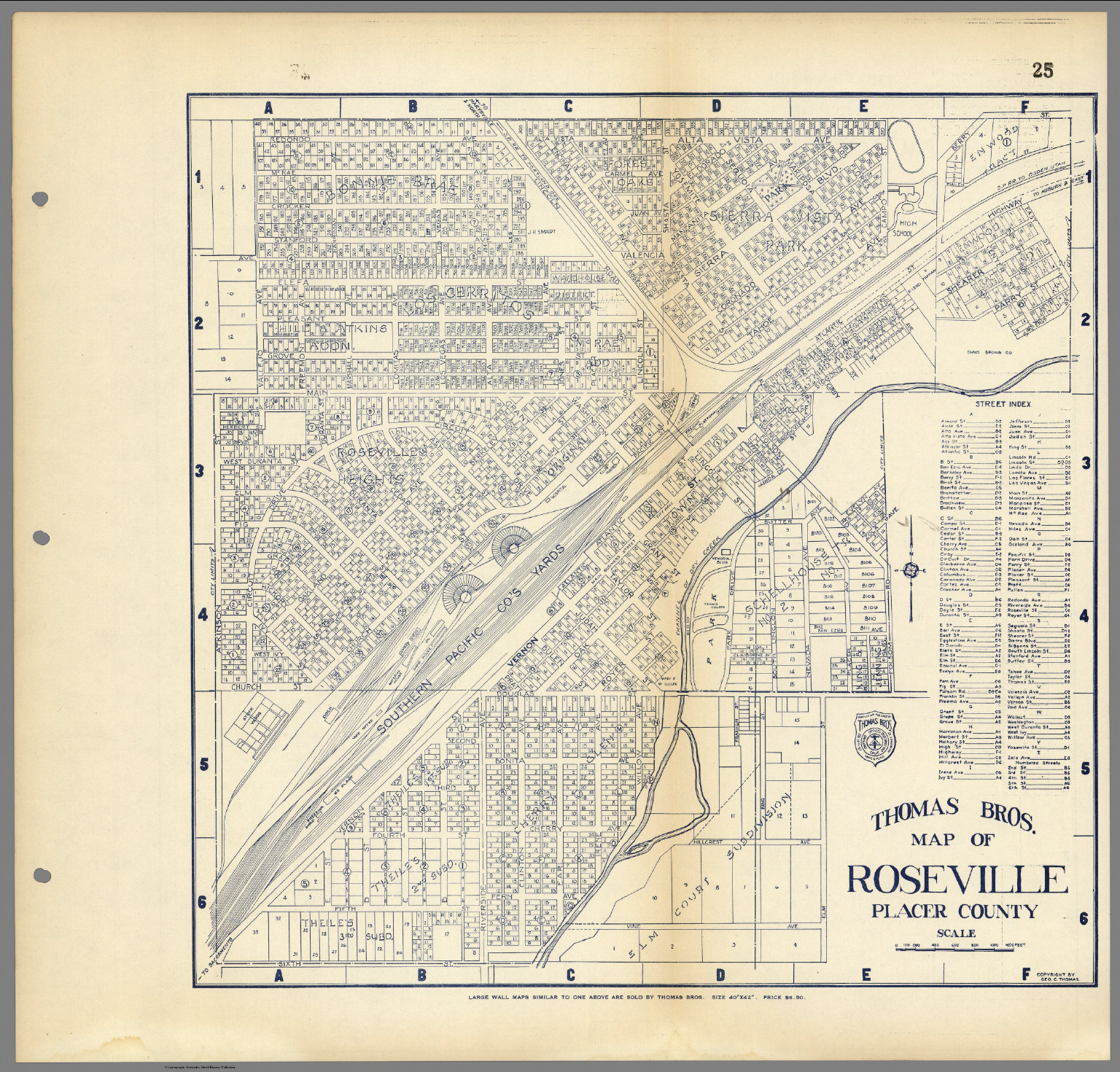 Thomas Bros. Map of Roseville, Placer County, California ...