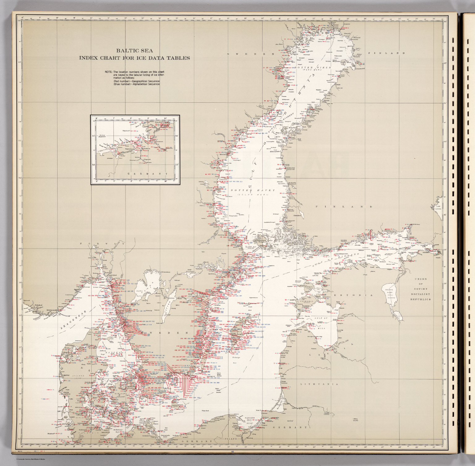 Baltic Sea, Index Chart for Ice Data Tables. - David Rumsey ...