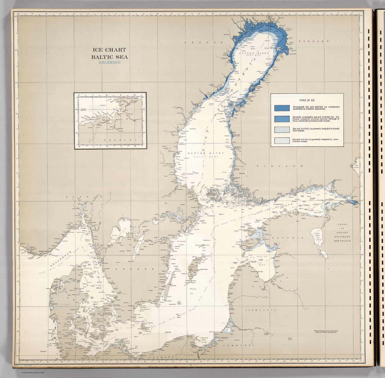 Ice Chart, Baltic Sea, December. - David Rumsey Historical Map ...