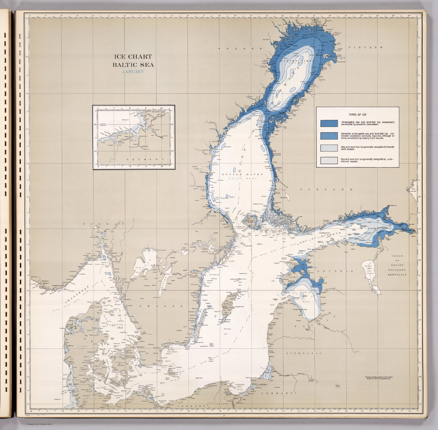 Ice Chart, Baltic Sea, January. - David Rumsey Historical Map Collection