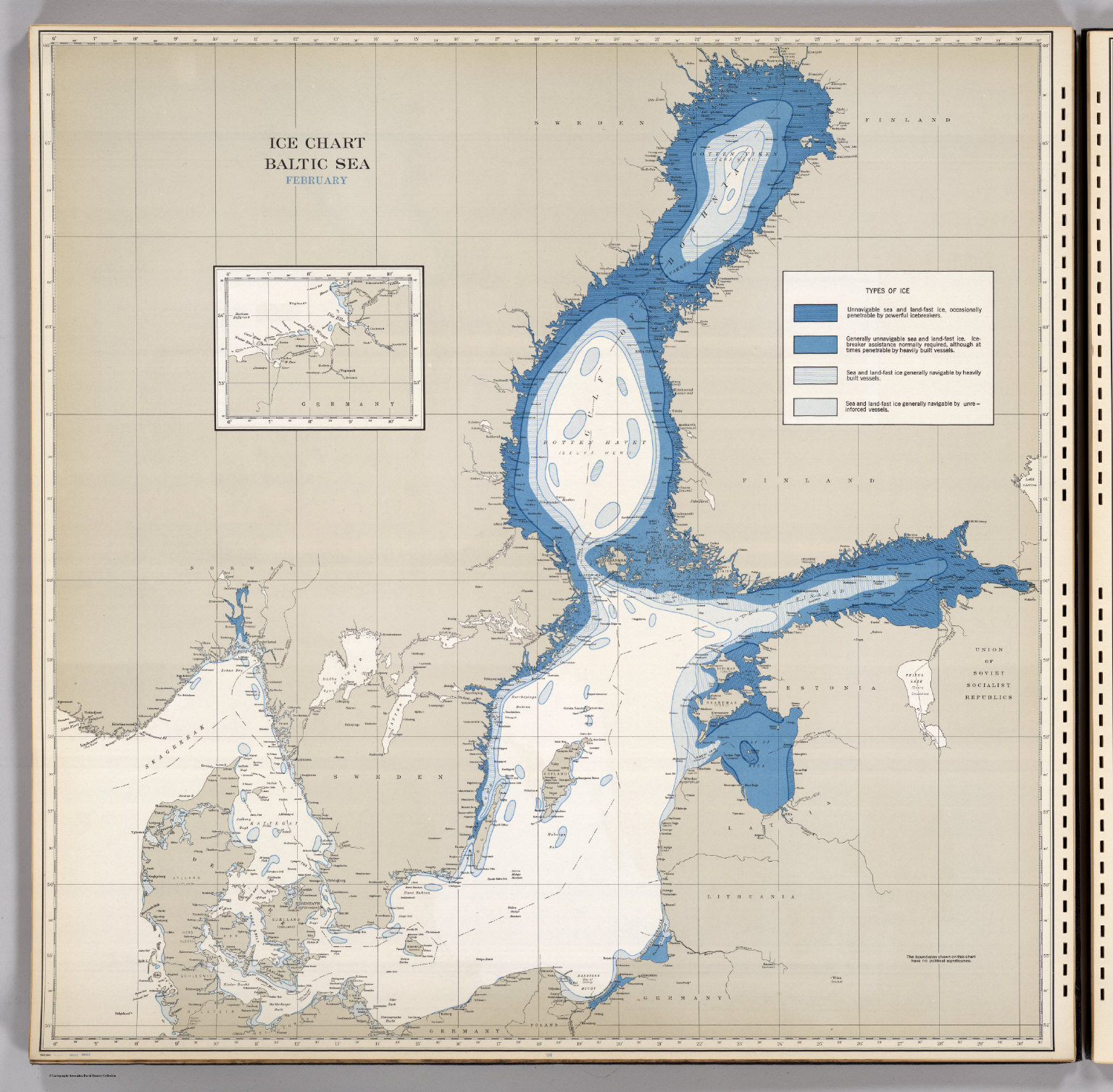 Ice Chart, Baltic Sea, February. - David Rumsey Historical Map ...