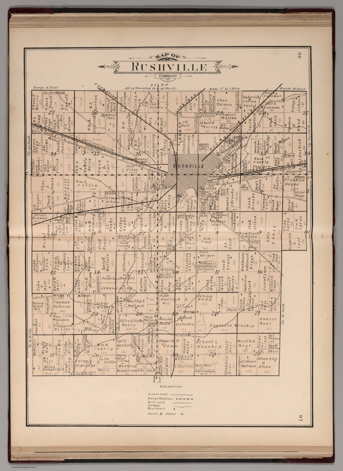 Rushville Township Rush County Indiana David Rumsey Historical