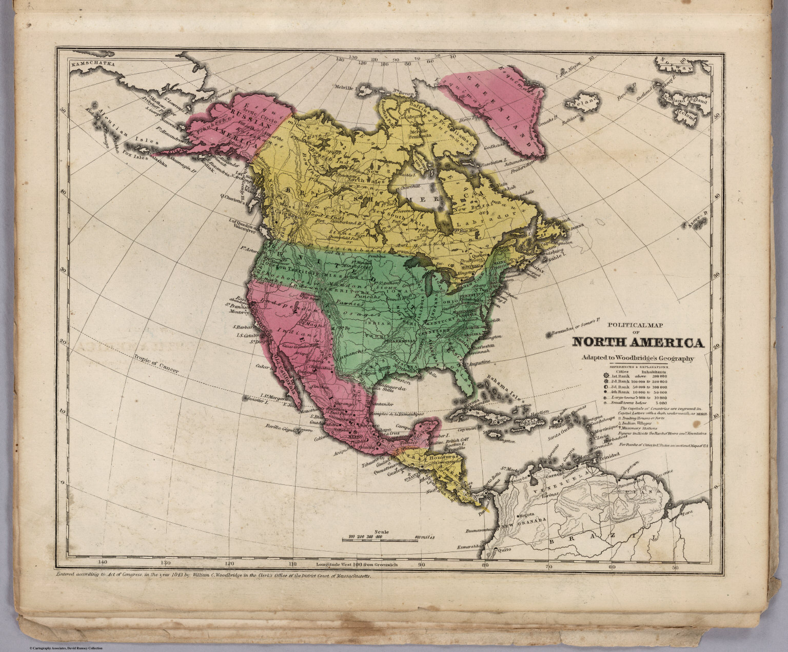 Political Map Of North America David Rumsey Historical Map Collection