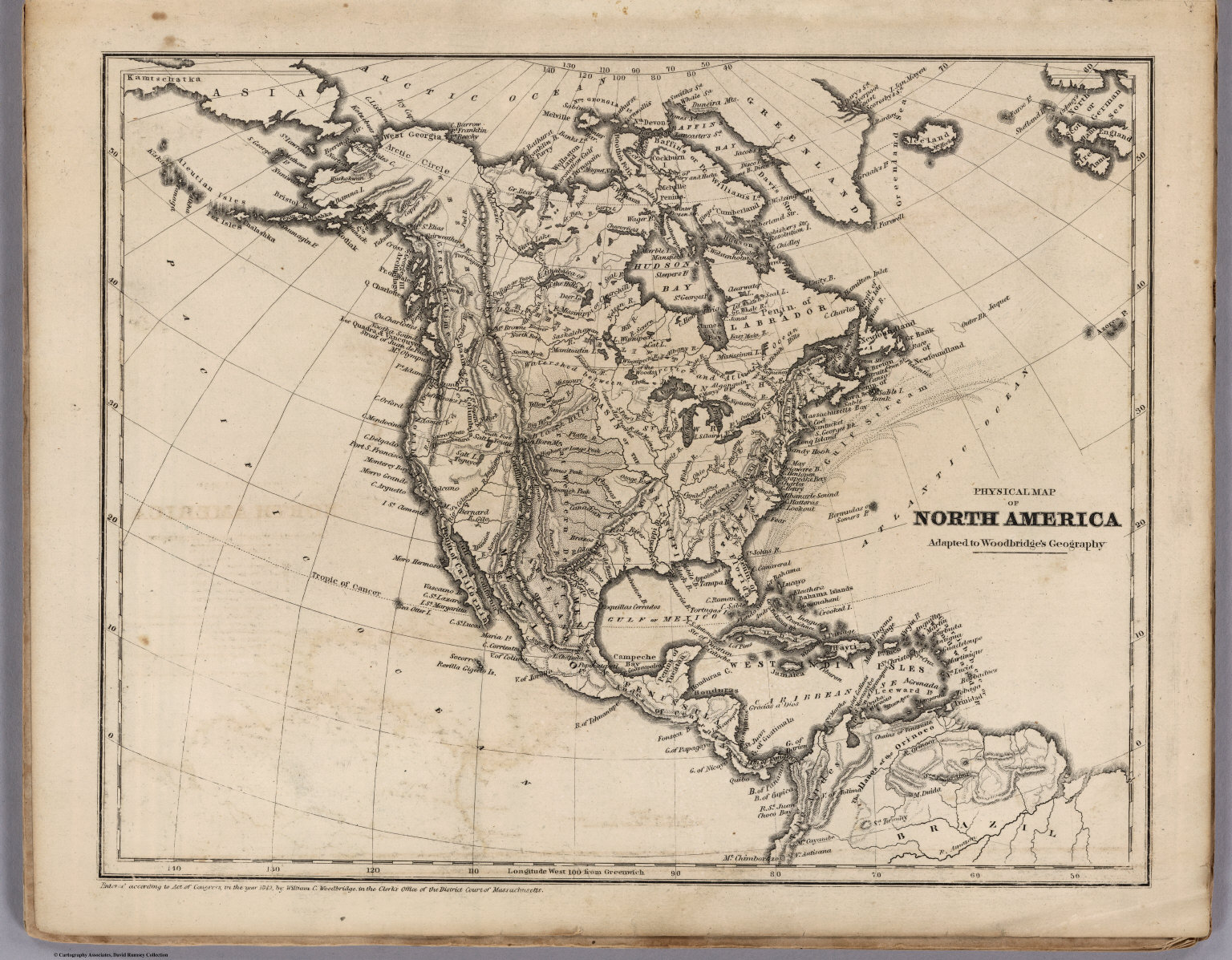 Physical Map Of North America - David Rumsey Historical Map Collection