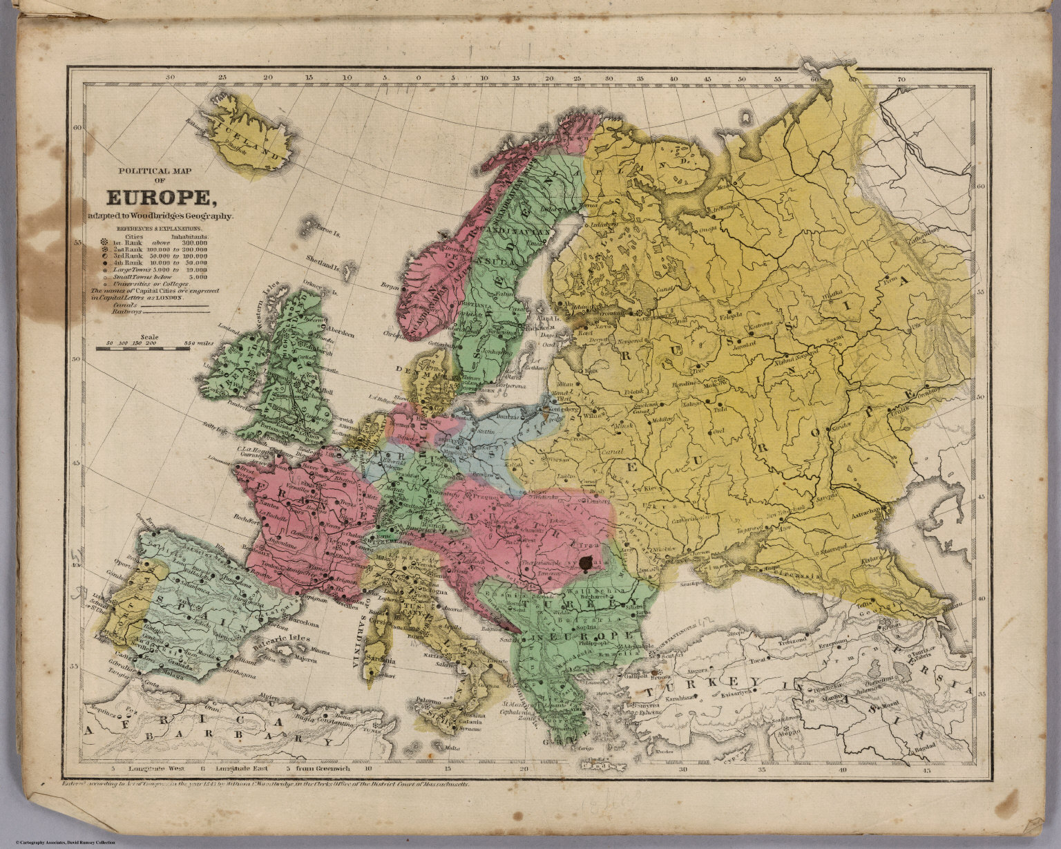 Picture of: Political Map Of Europe David Rumsey Historical Map Collection