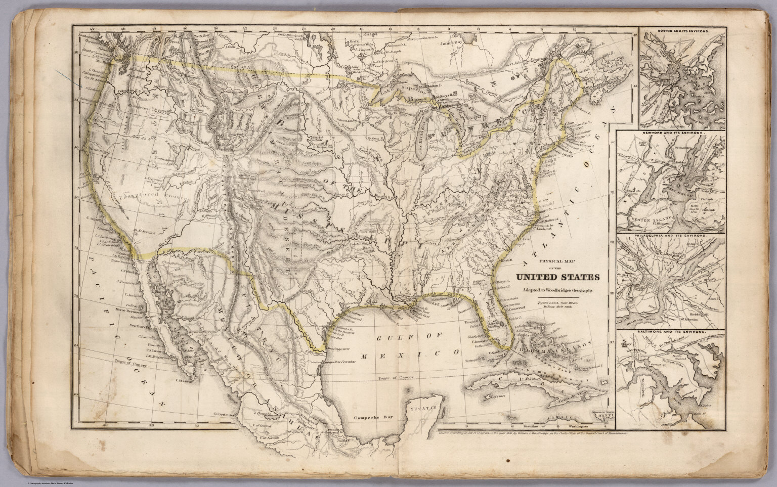 Physical Map Of The United States - David Rumsey Historical Map ...