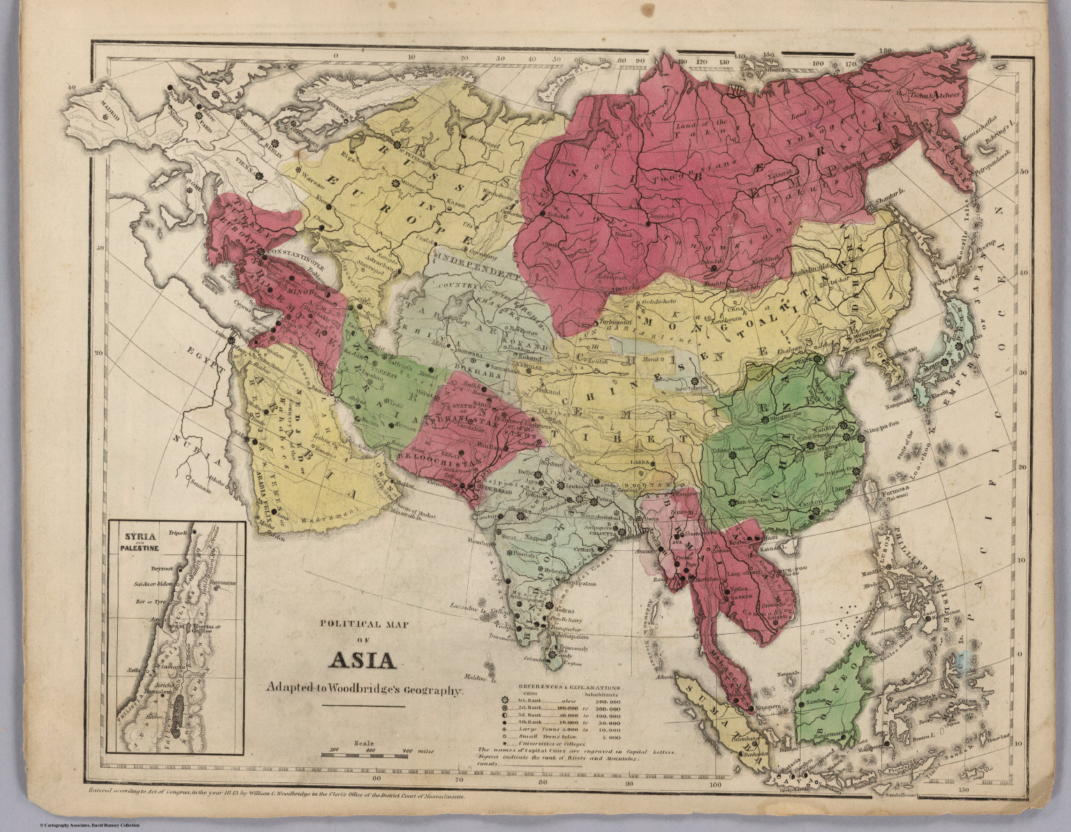 Political Map Of Asia - David Rumsey Historical Map Collection