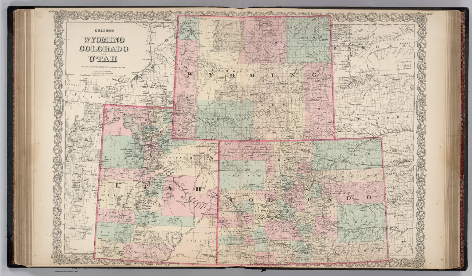 Wyoming, Colorado and Utah.   David Rumsey Historical Map Collection