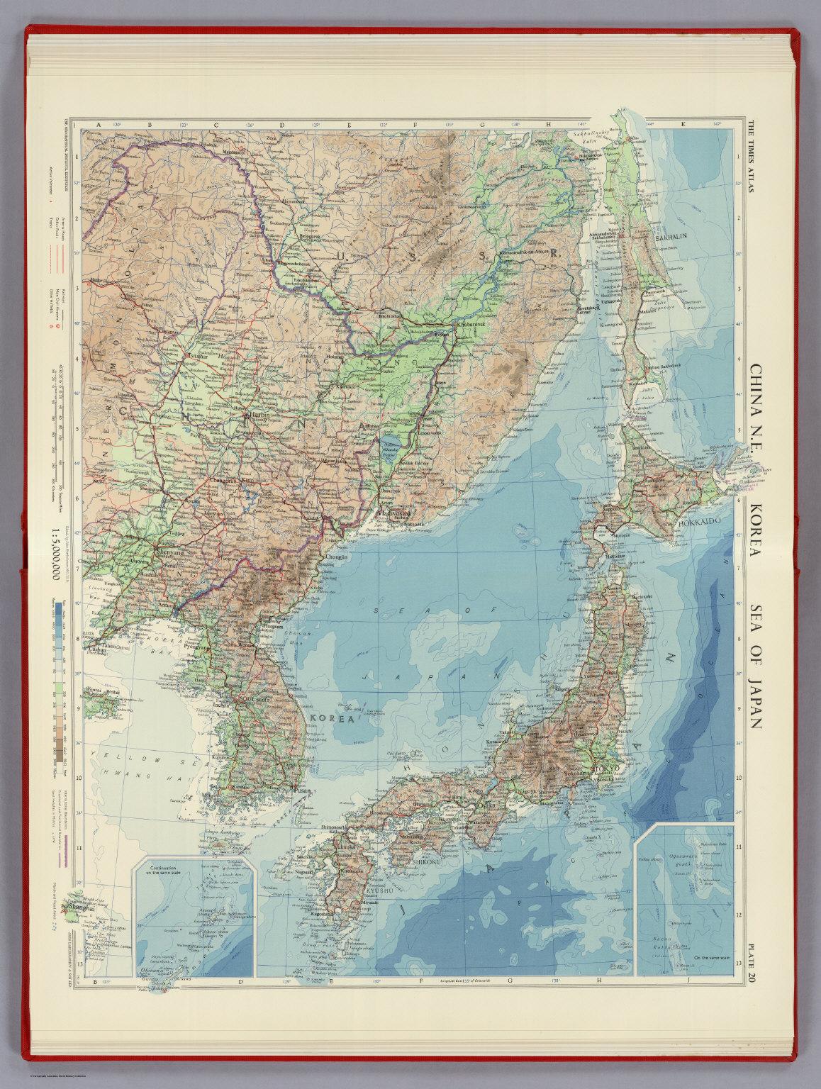 China N.E. Korea Sea Of Japan. Plate 20, V.1