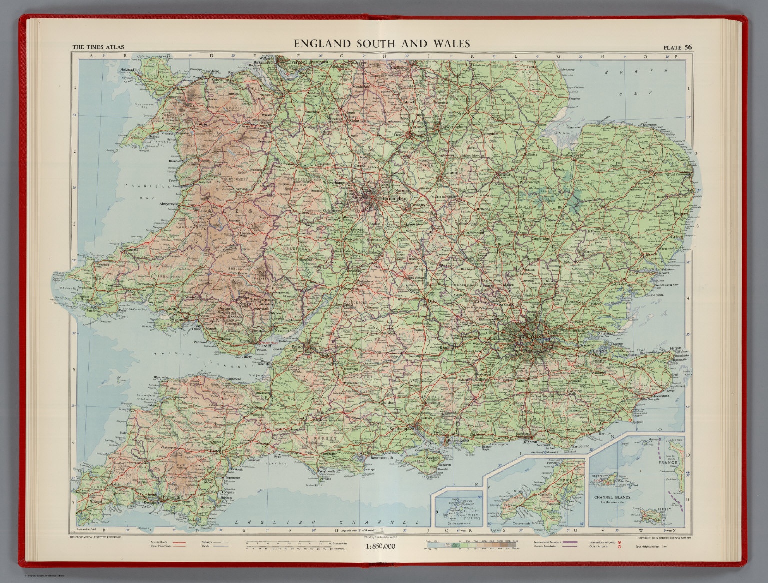 Map Of England 850.England South And Wales Plate 56 V Iii David Rumsey Historical