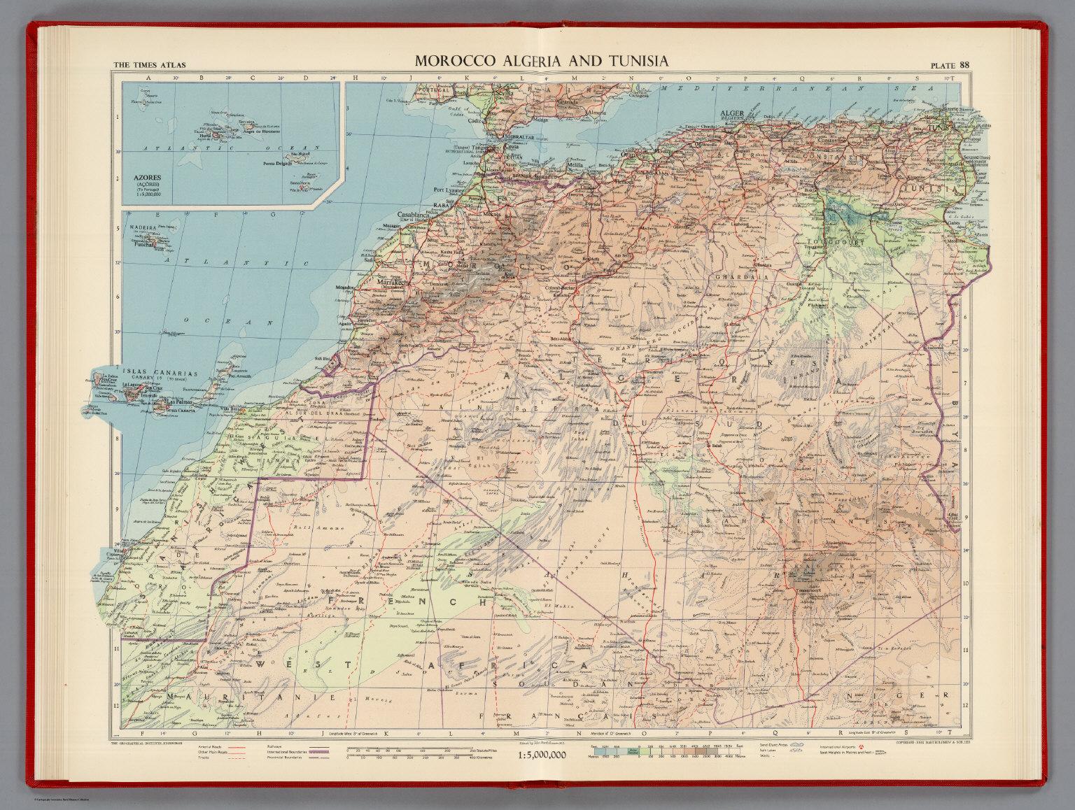 Morocco algeria and tunisia plate 88 v iv david rumsey morocco algeria and tunisia plate 88 v iv gumiabroncs Image collections