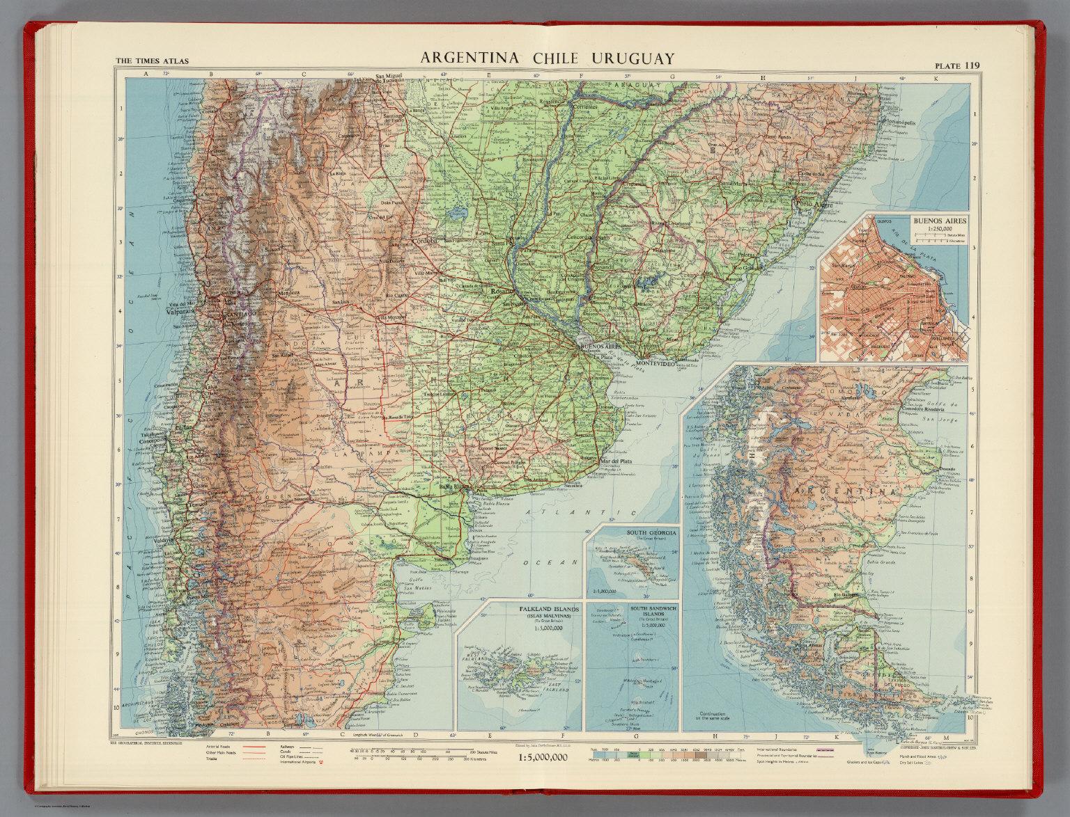Argentina, Chile, Uruguay, Plate 119, Vol. V