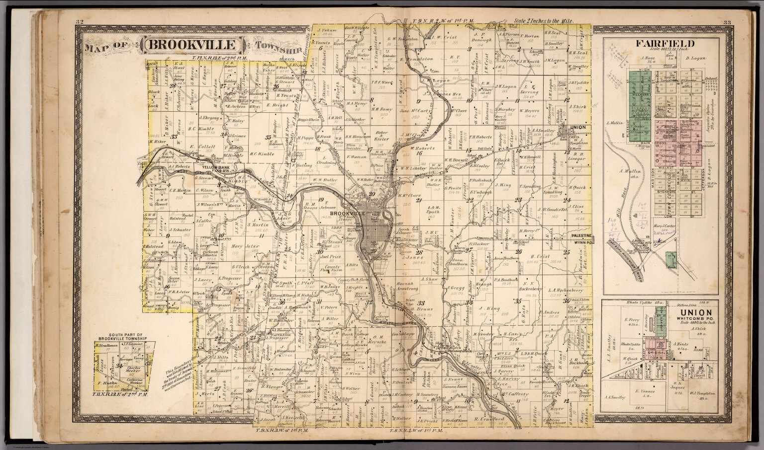 Brookville Township Franklin County Indiana Fairfield Union
