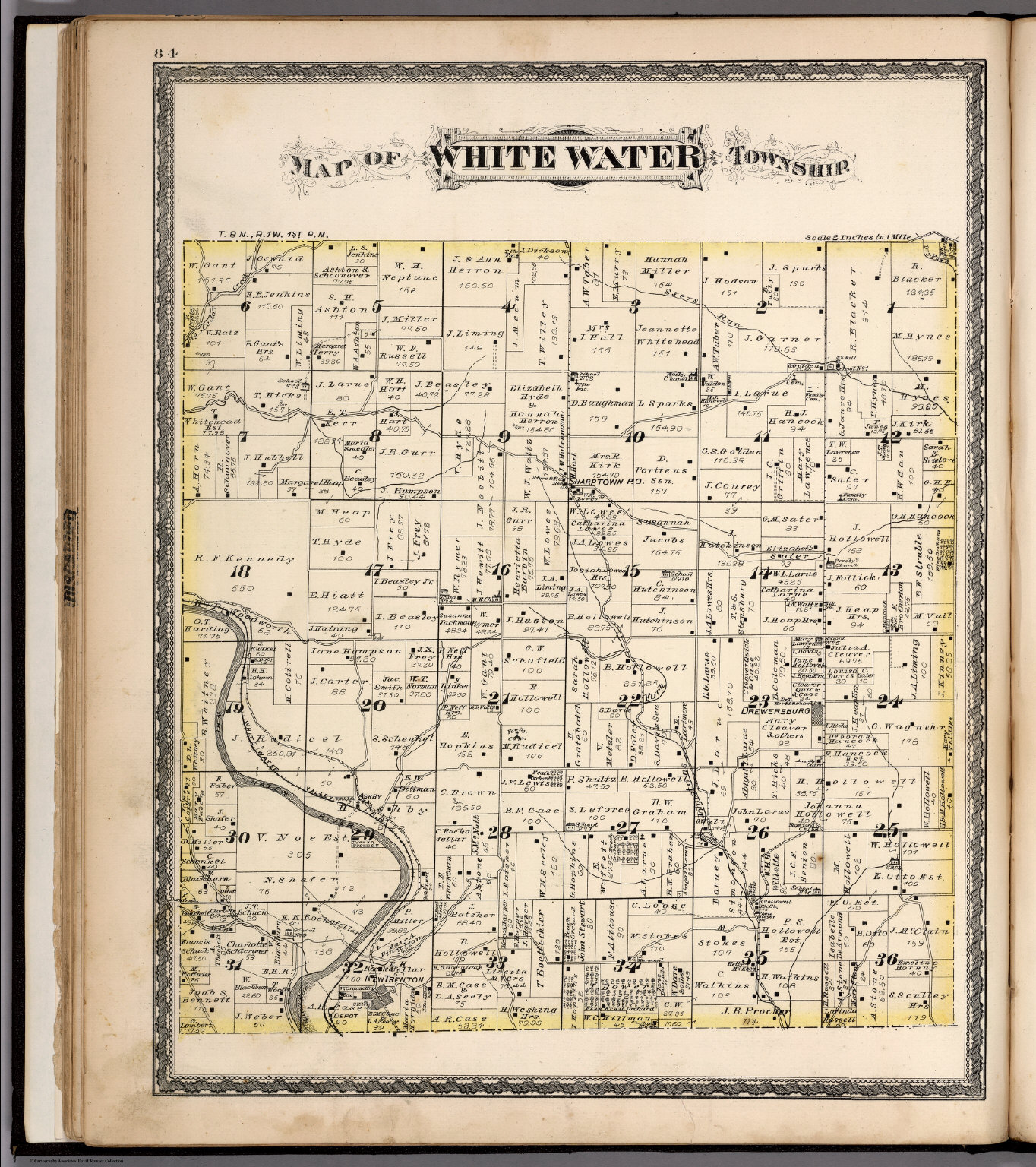 Map Of White Water Township Franklin County Indiana David