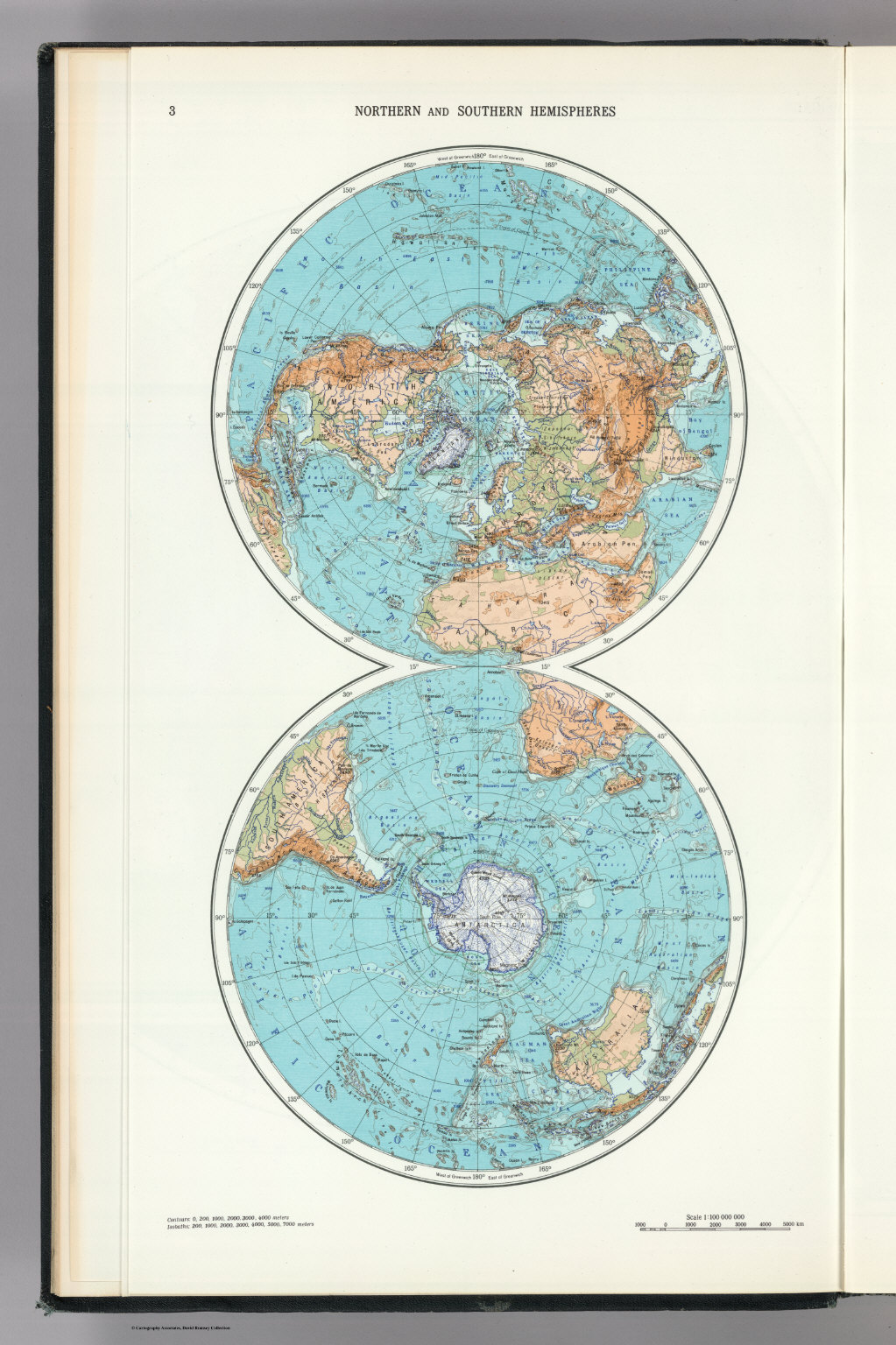 Northern And Southern Hemispheres. The World Atlas.