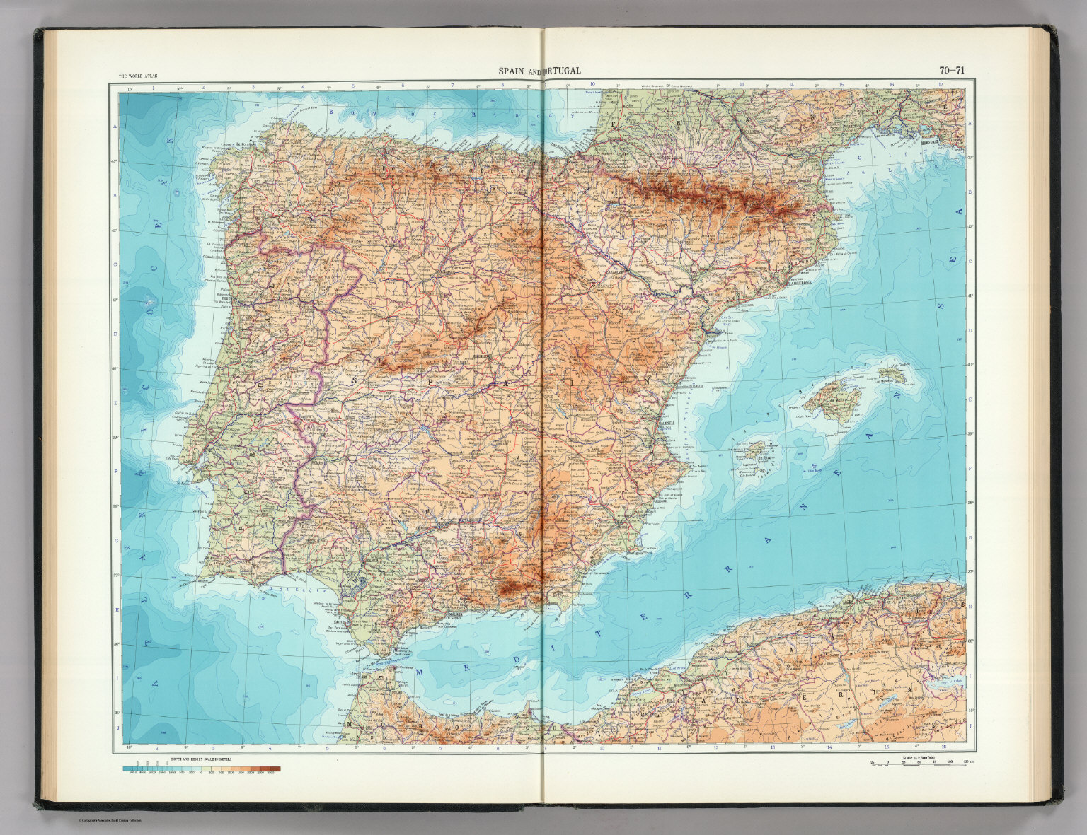 70 71 spain and portugal the world atlas david rumsey spain and portugal the world atlas gumiabroncs Gallery