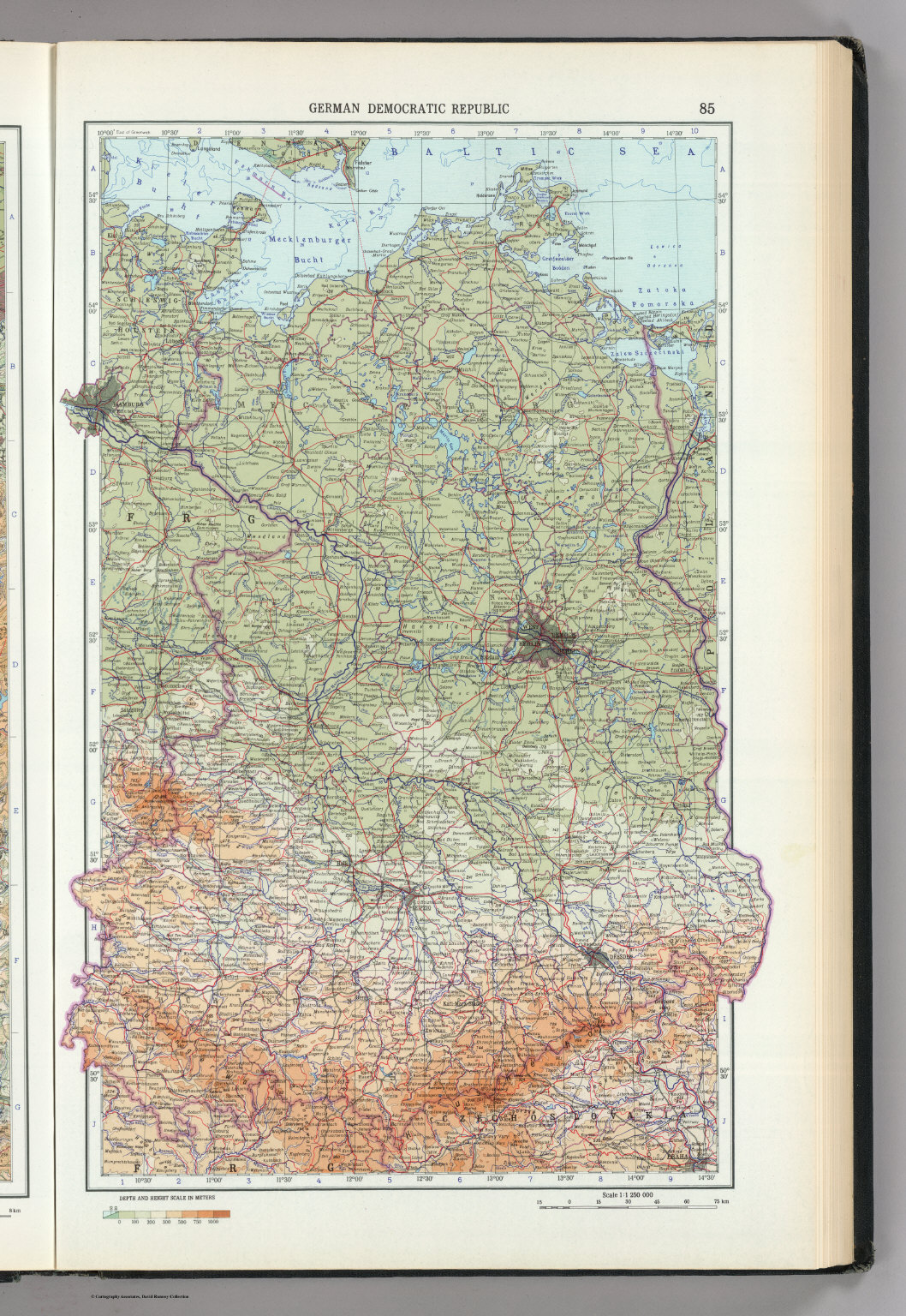 german democratic republic east germany the world atlas