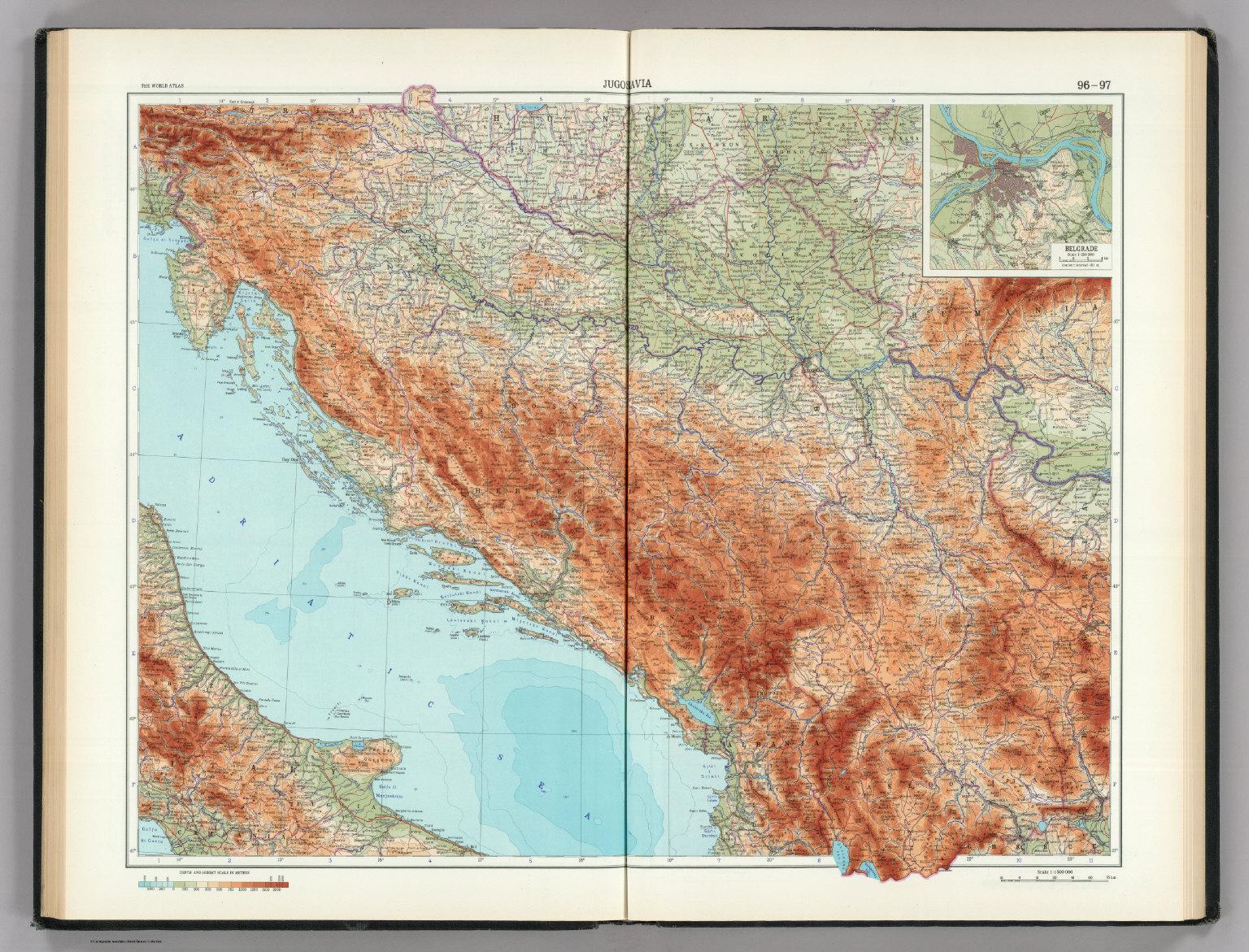 96 97 jugoslavia yugoslavia the world atlas david rumsey yugoslavia the world atlas gumiabroncs Choice Image