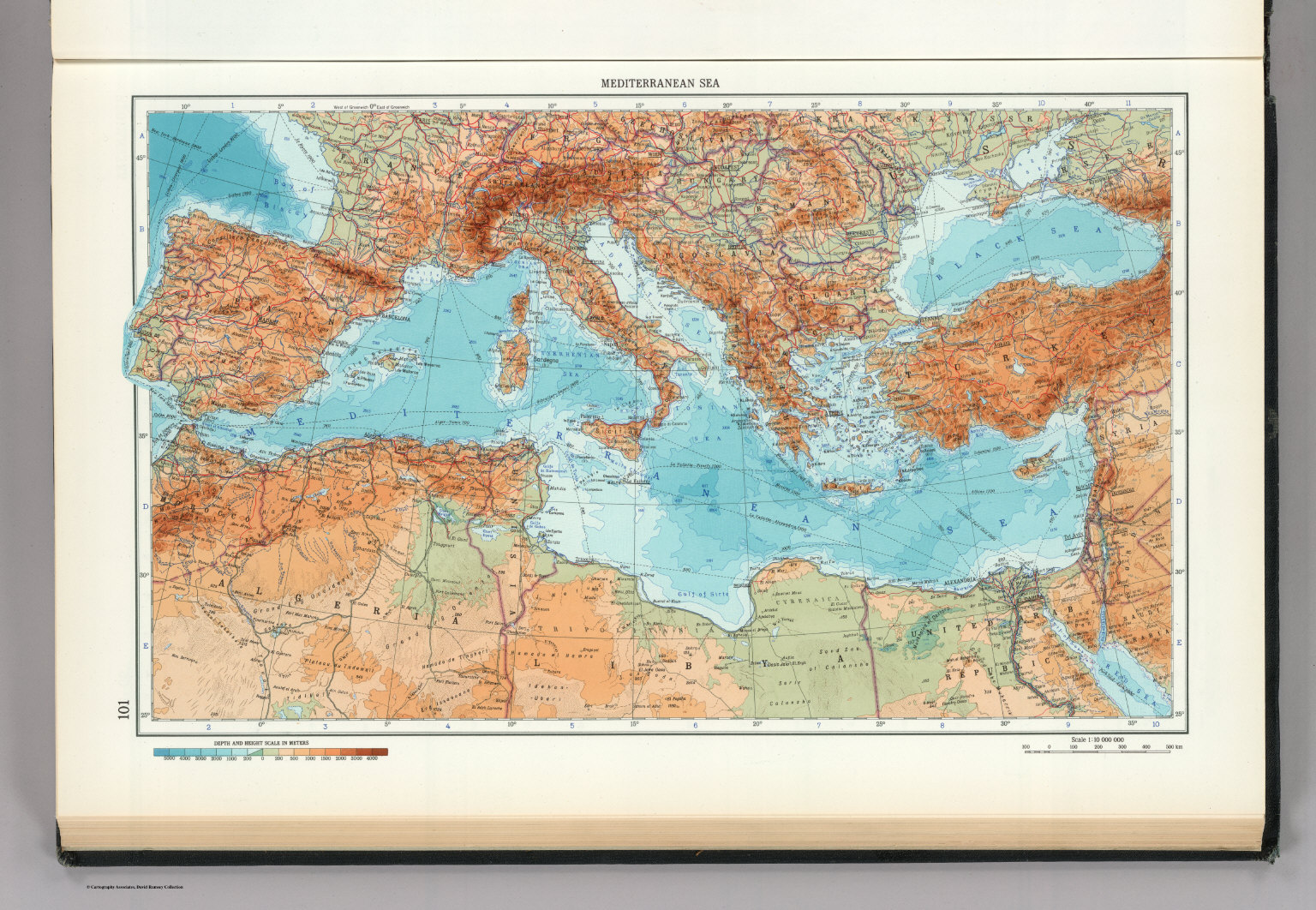 101. Mediterranean Sea. The World Atlas. - David Rumsey Historical ...