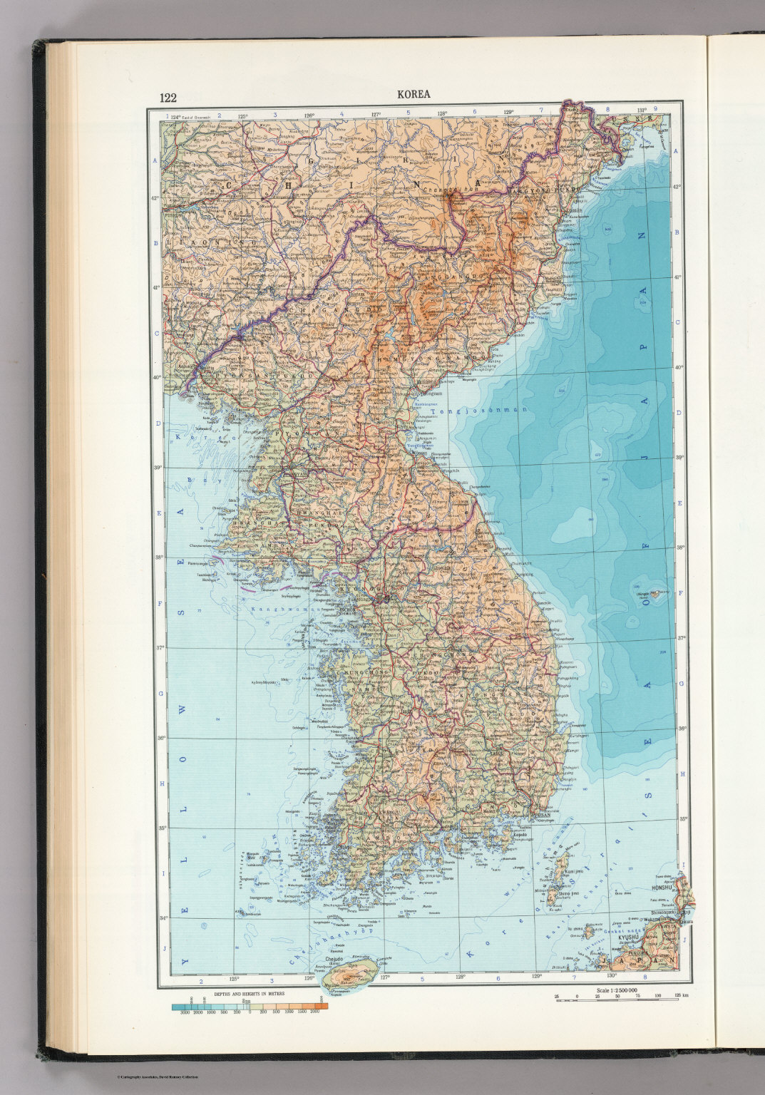 122. Korea. The World Atlas.