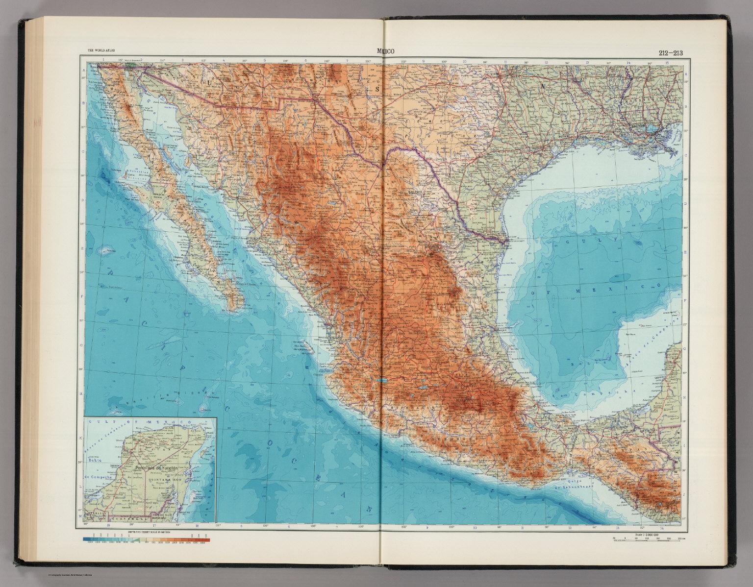 212 213 mexico the world atlas david rumsey historical map mexico the world atlas gumiabroncs Choice Image