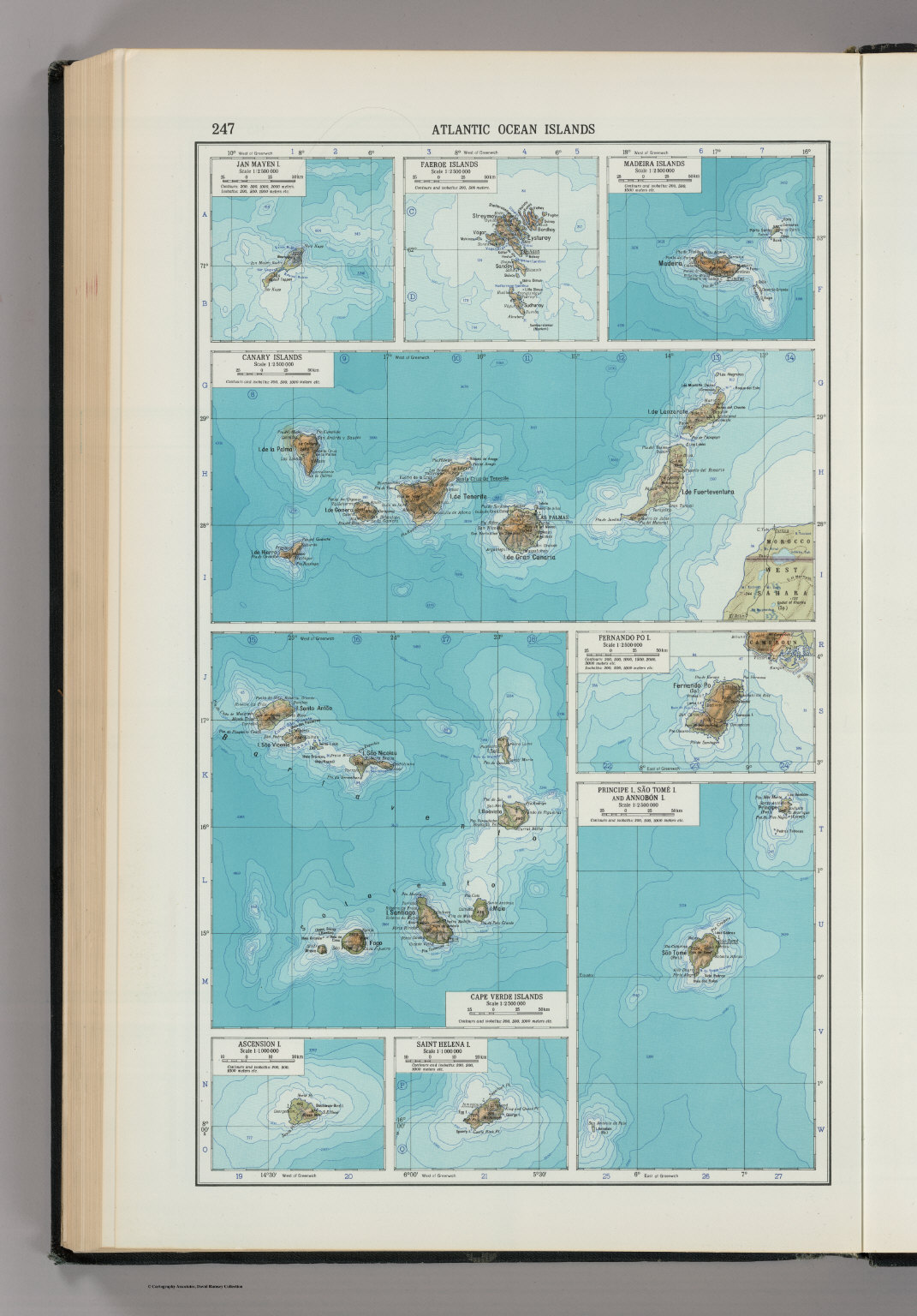 247 atlantic ocean islands the world atlas david rumsey atlantic ocean islands the world atlas gumiabroncs Gallery