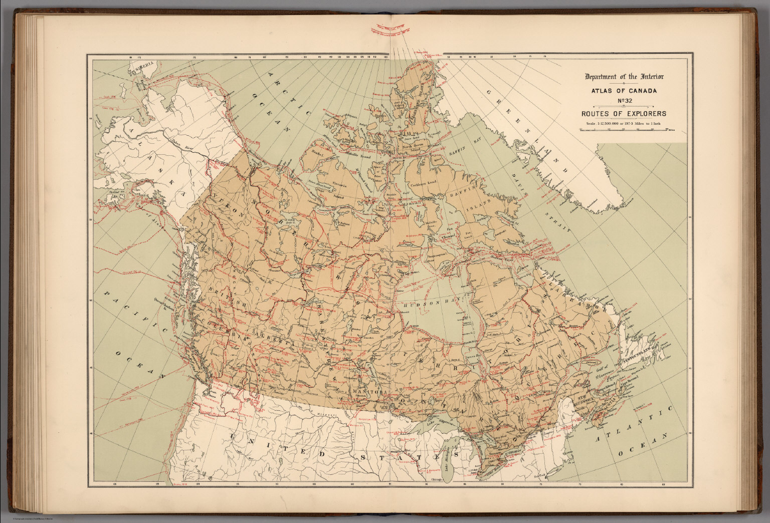 Buy Map Of Canada.No 32 Routes Of Explorers David Rumsey Historical Map Collection