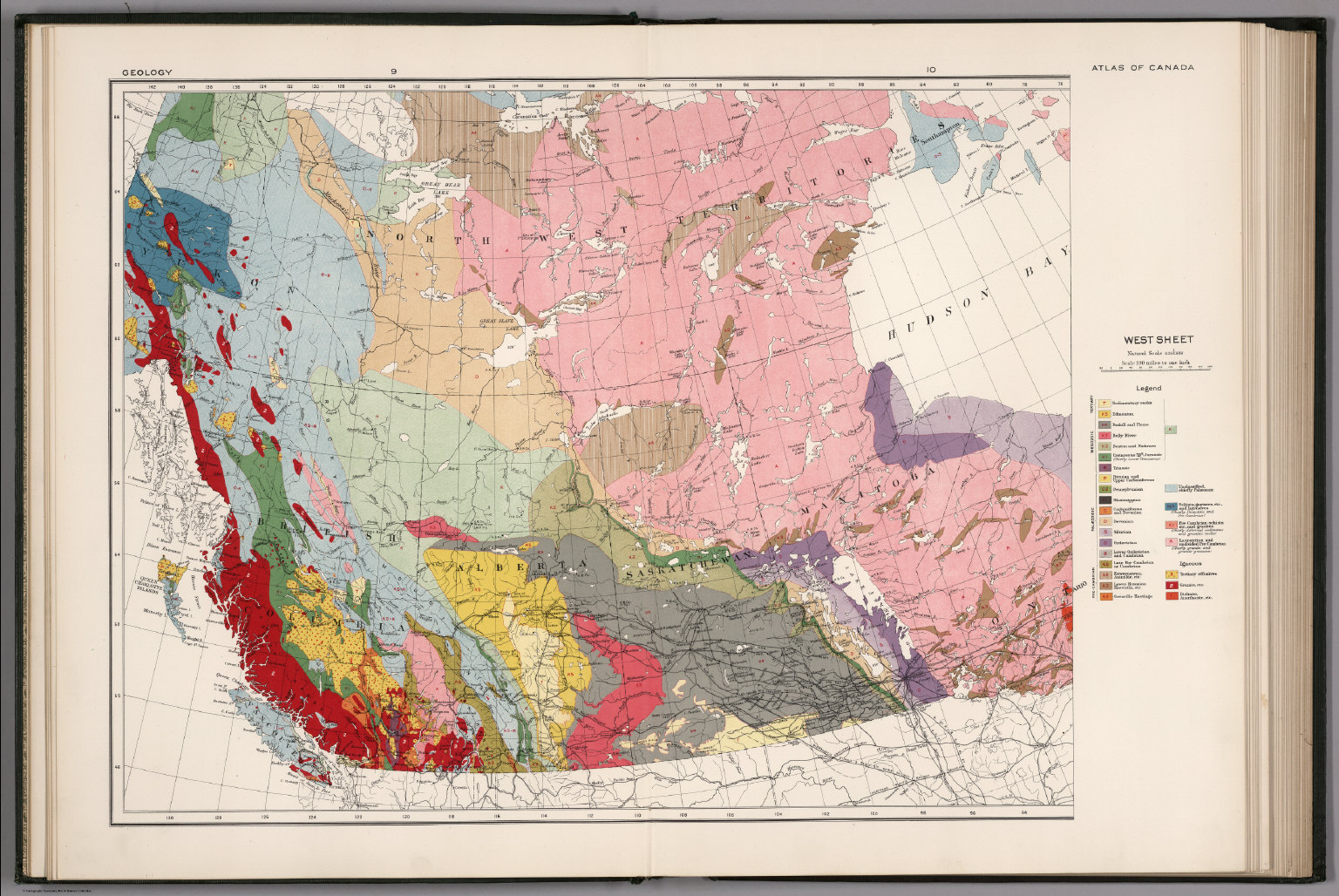West sheet. Geological map of the Dominion of Canada - David Rumsey on
