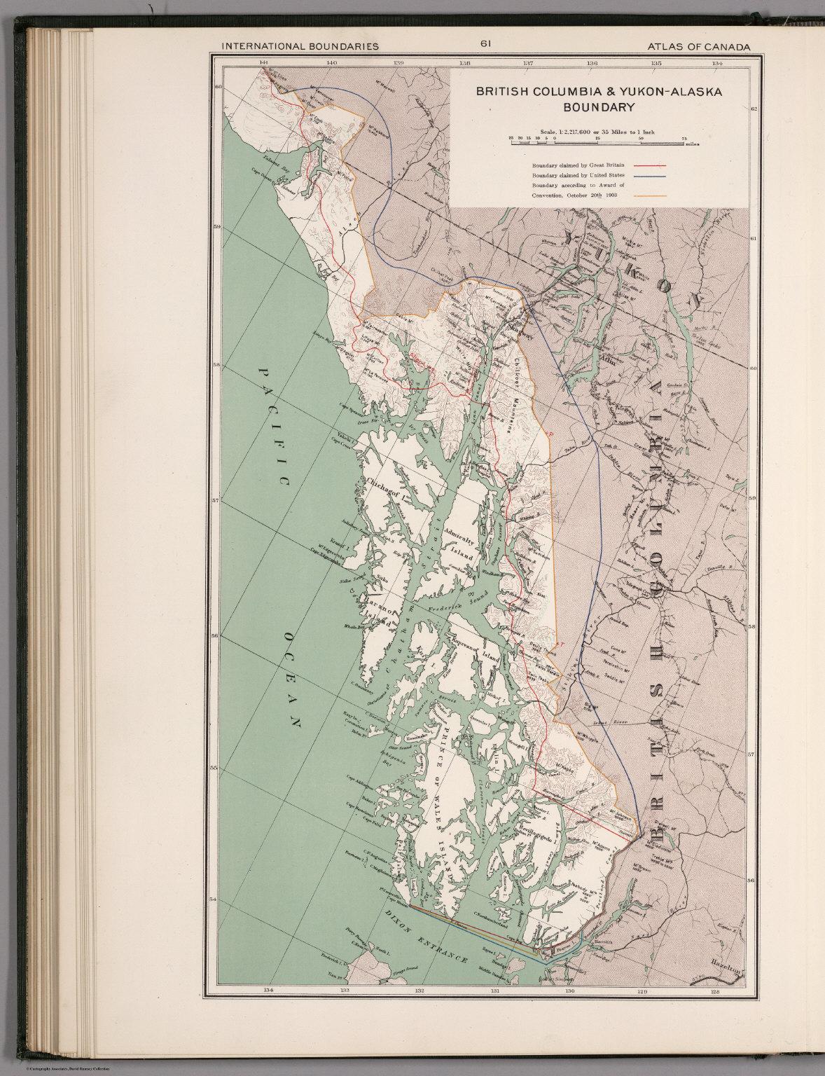British columbia yukon alaska boundary david rumsey historical georeference this map buy print export gumiabroncs Image collections