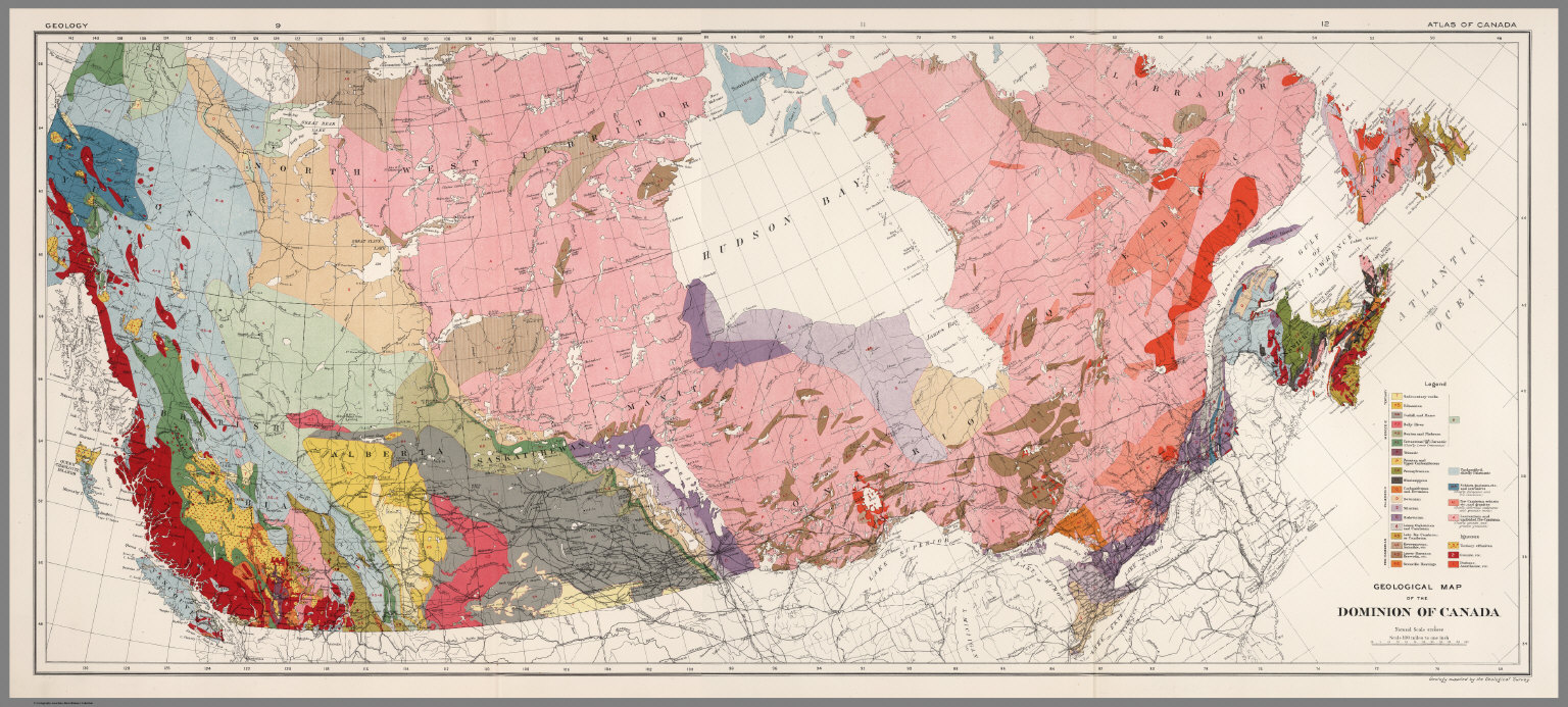 on canada geological map