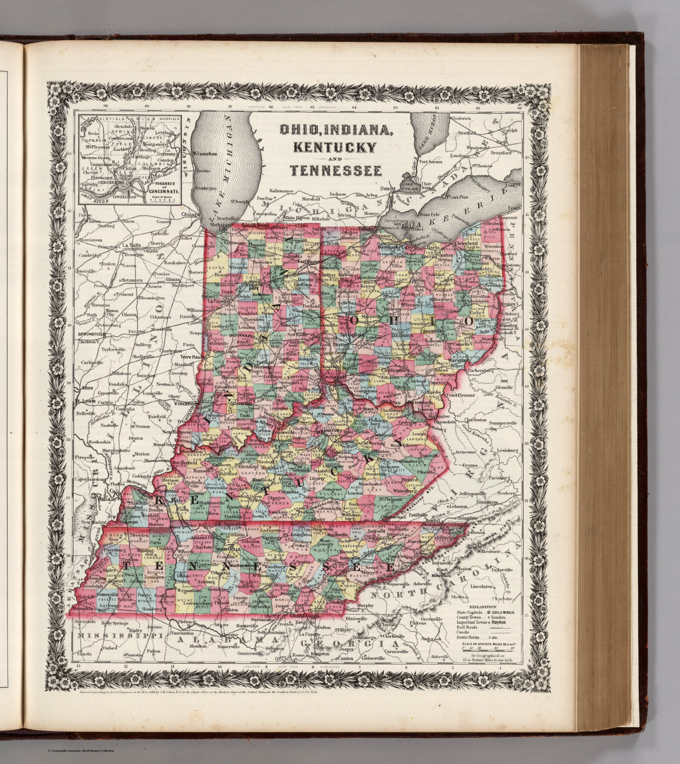 Ohio Indiana Kentucky And Tennessee David Rumsey Historical