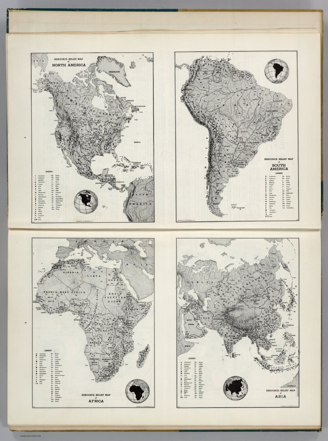 resource relief maps of north america south america africaand asia