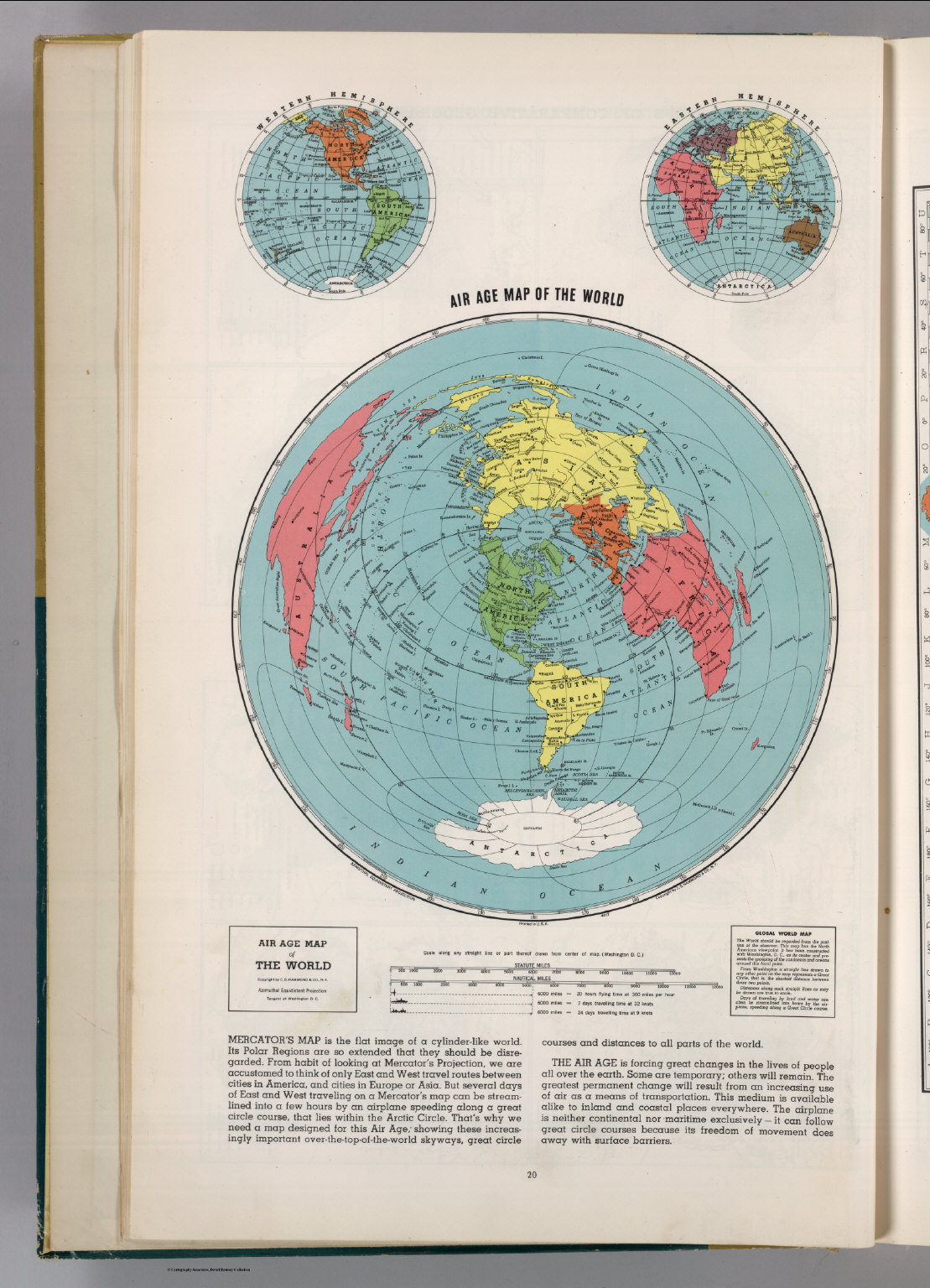 Air Map Of The World.Air Age Map Of The World David Rumsey Historical Map Collection