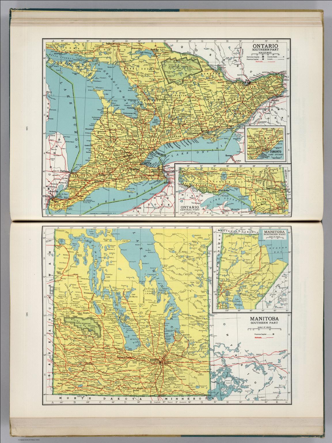 Ontario Manitoba David Rumsey Historical Map Collection