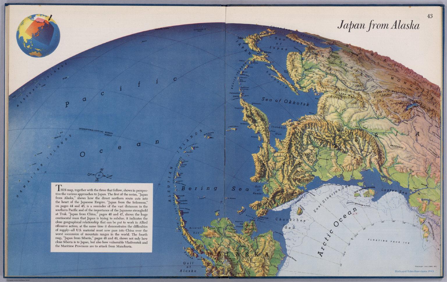Japan to alaska david rumsey historical map collection japan to alaska gumiabroncs Choice Image