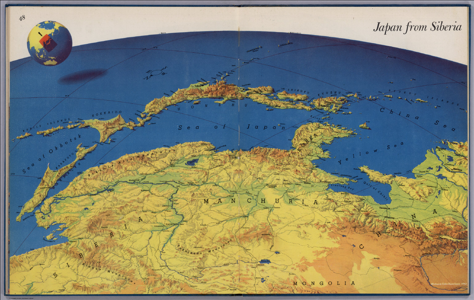 Where Is Siberia On A World Map.Japan From Siberia David Rumsey Historical Map Collection
