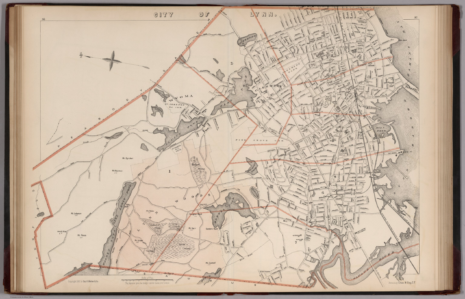 City of Lynn Massachusetts David Rumsey Historical Map Collection
