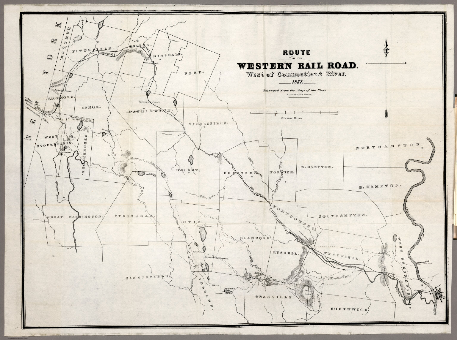 Route of the Western railroad. West of Connecticut River - David ...