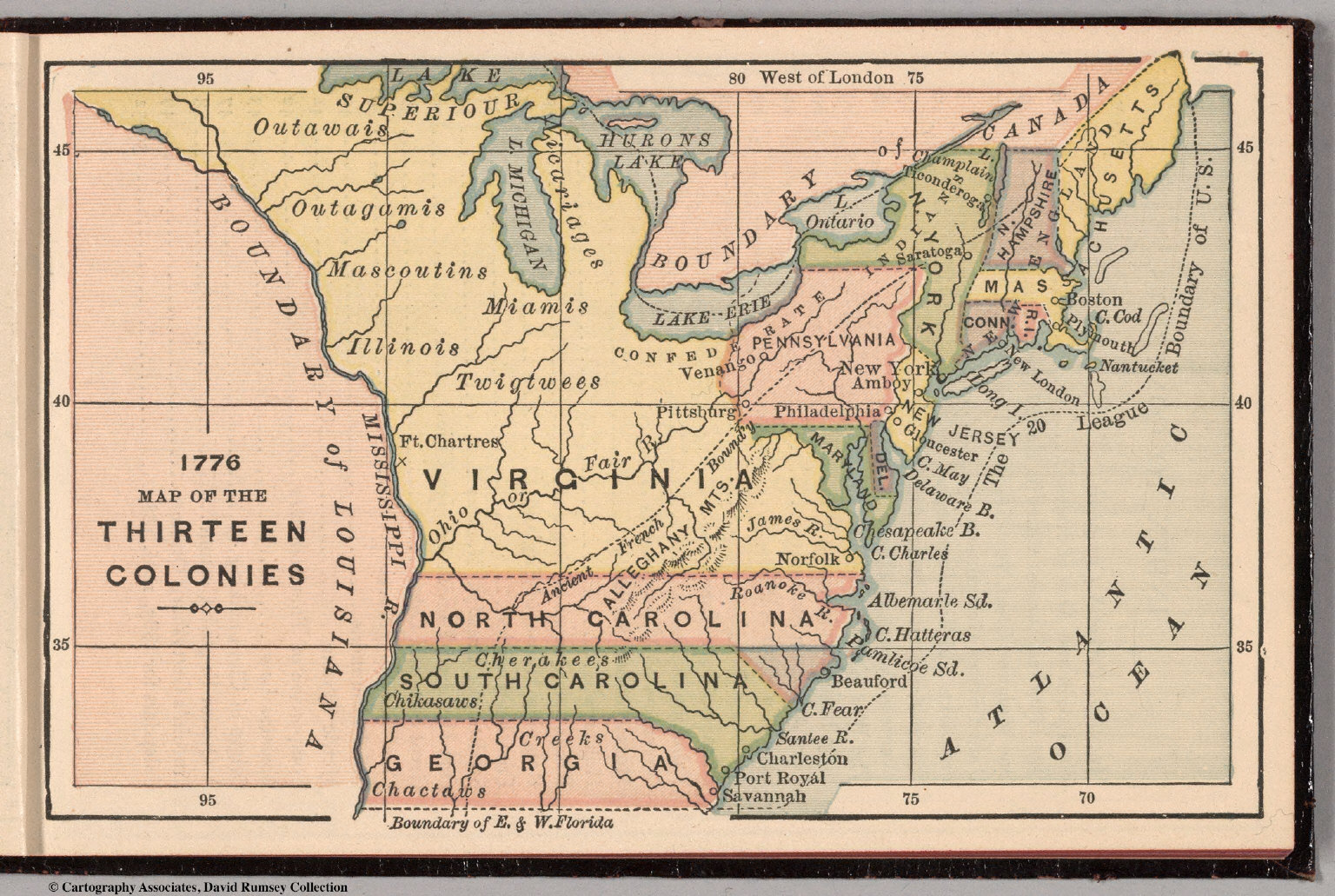 Map Of New York 1776.1776 Map Of The Thirteen Colonies David Rumsey Historical Map