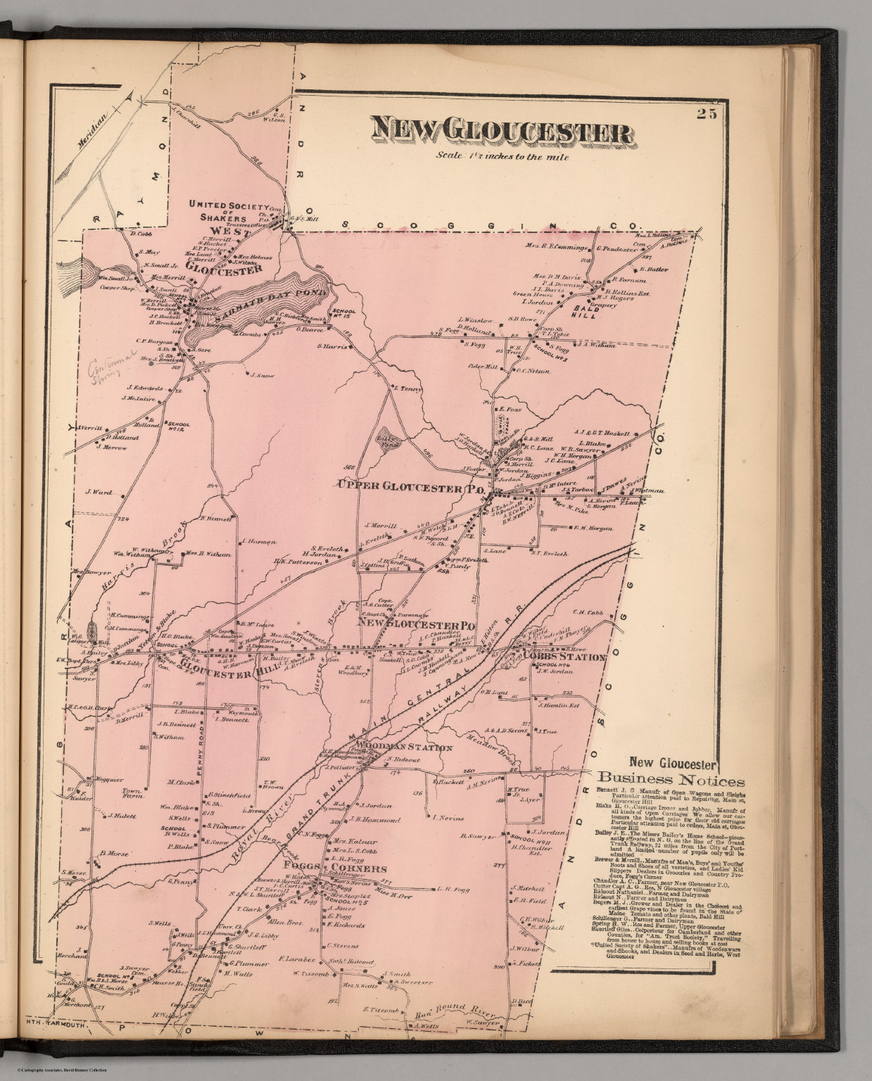 New Gloucester Cumberland County Maine David Rumsey Historical
