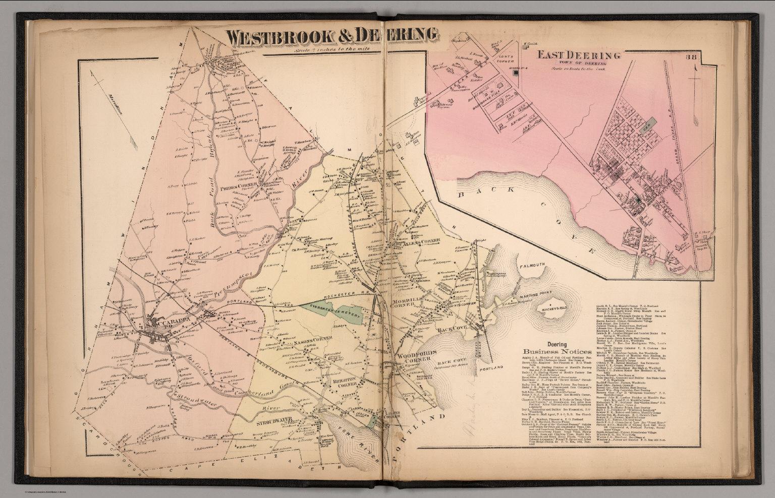 Westbrook and Deering Cumberland County Maine East Deering