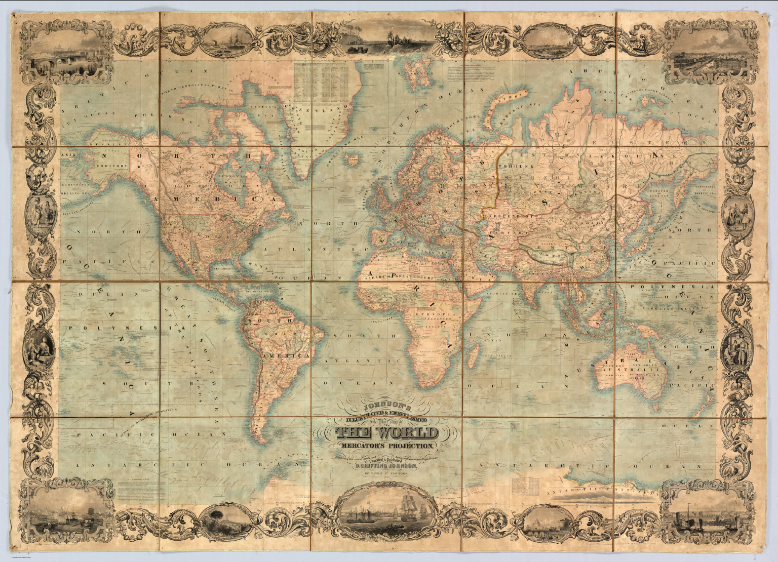 World On Mercators Projection David Rumsey Historical Map Collection - Authentic world map