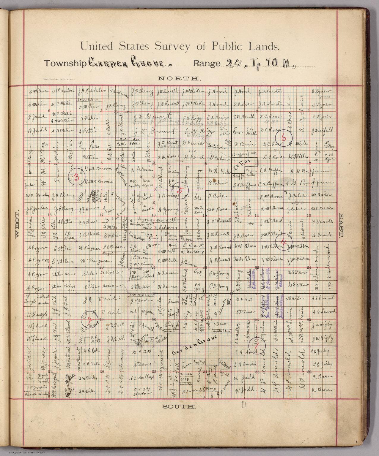Township Garden Grove, Range 24 (W), To 70 N.. (Decatur ...