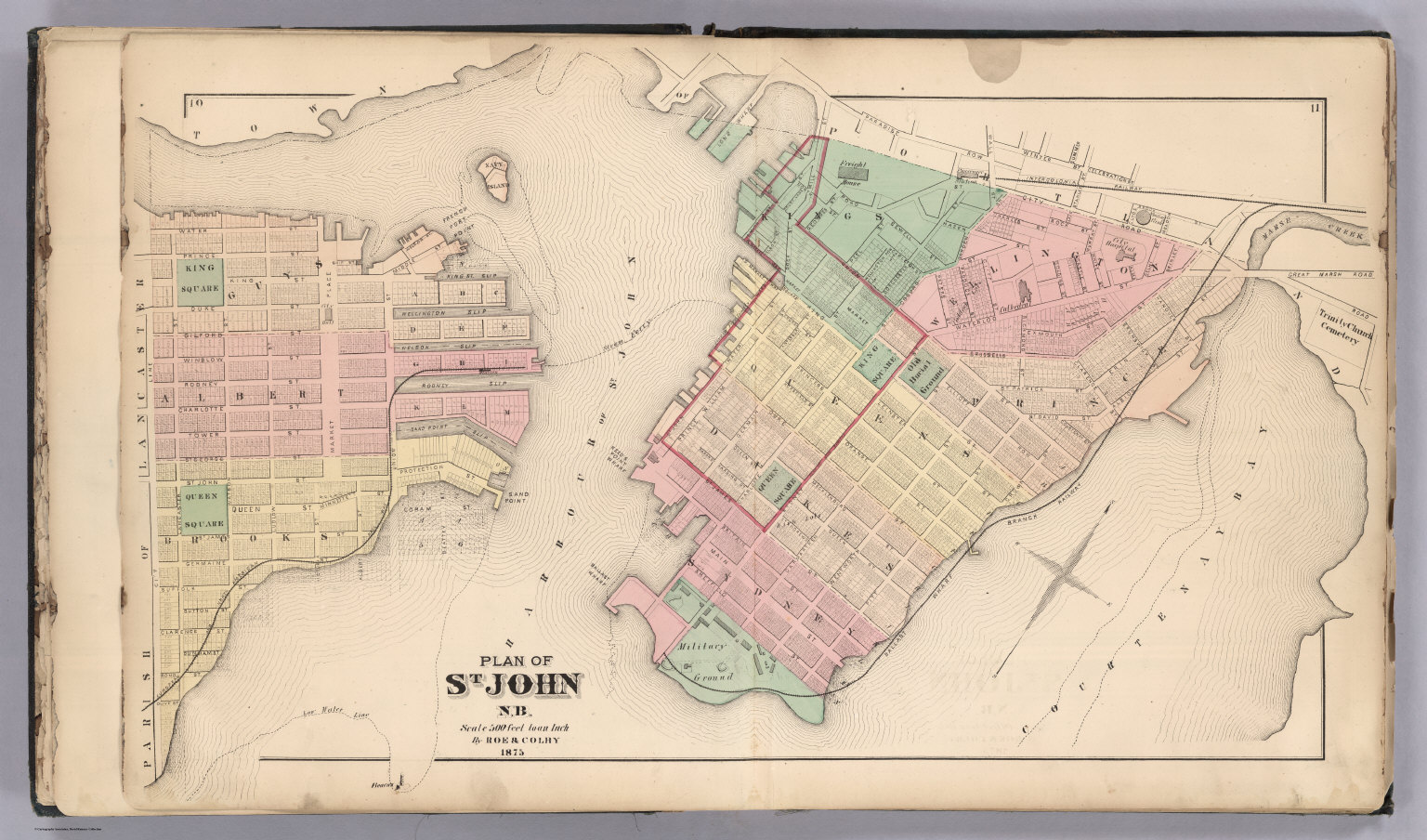 St John NB New Brunswick David Rumsey Historical Map Collection