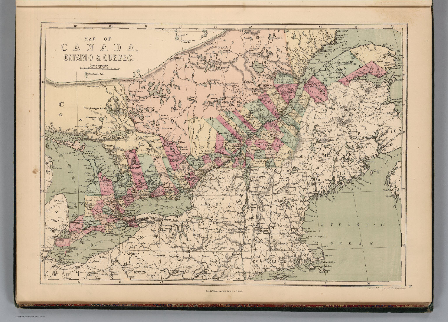 Ontario and quebec canada david rumsey historical map collection ontario and quebec canada gumiabroncs Choice Image