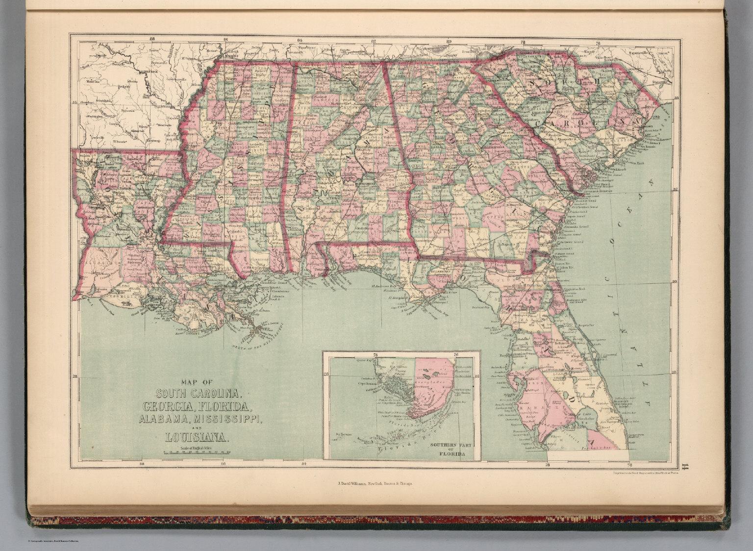 South Carolina Georgia Florida Alabama Mississippi And