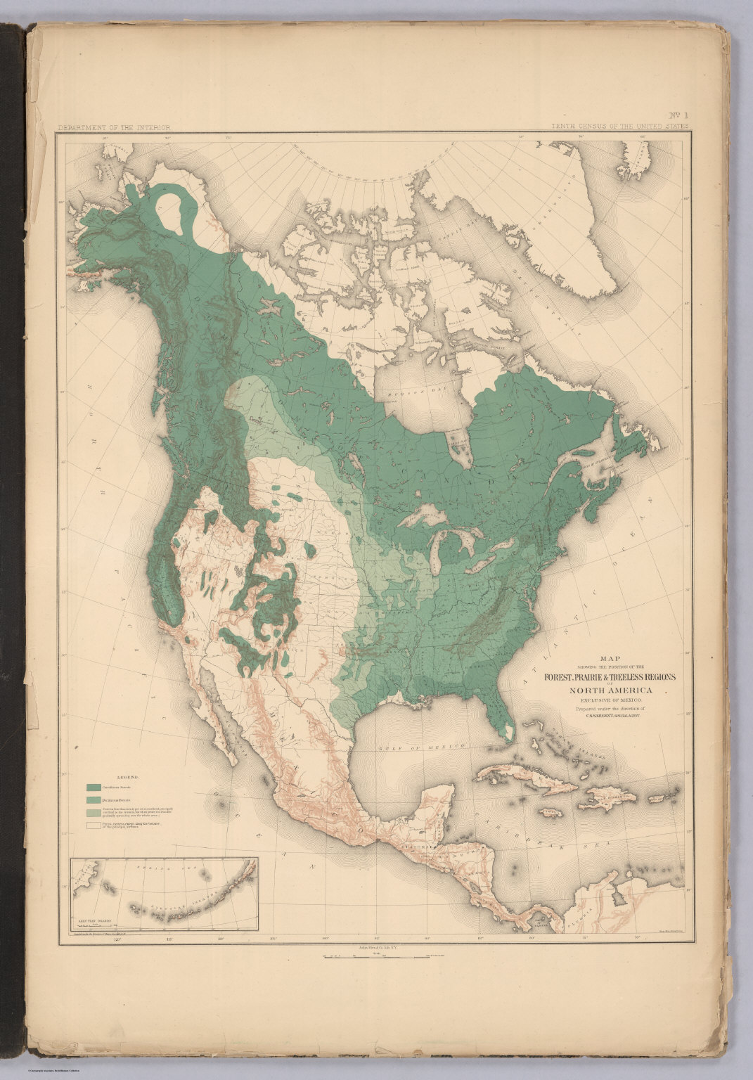 Prairies In North America Map.Position Of The Forest Prairie And Treeless Regions Of North