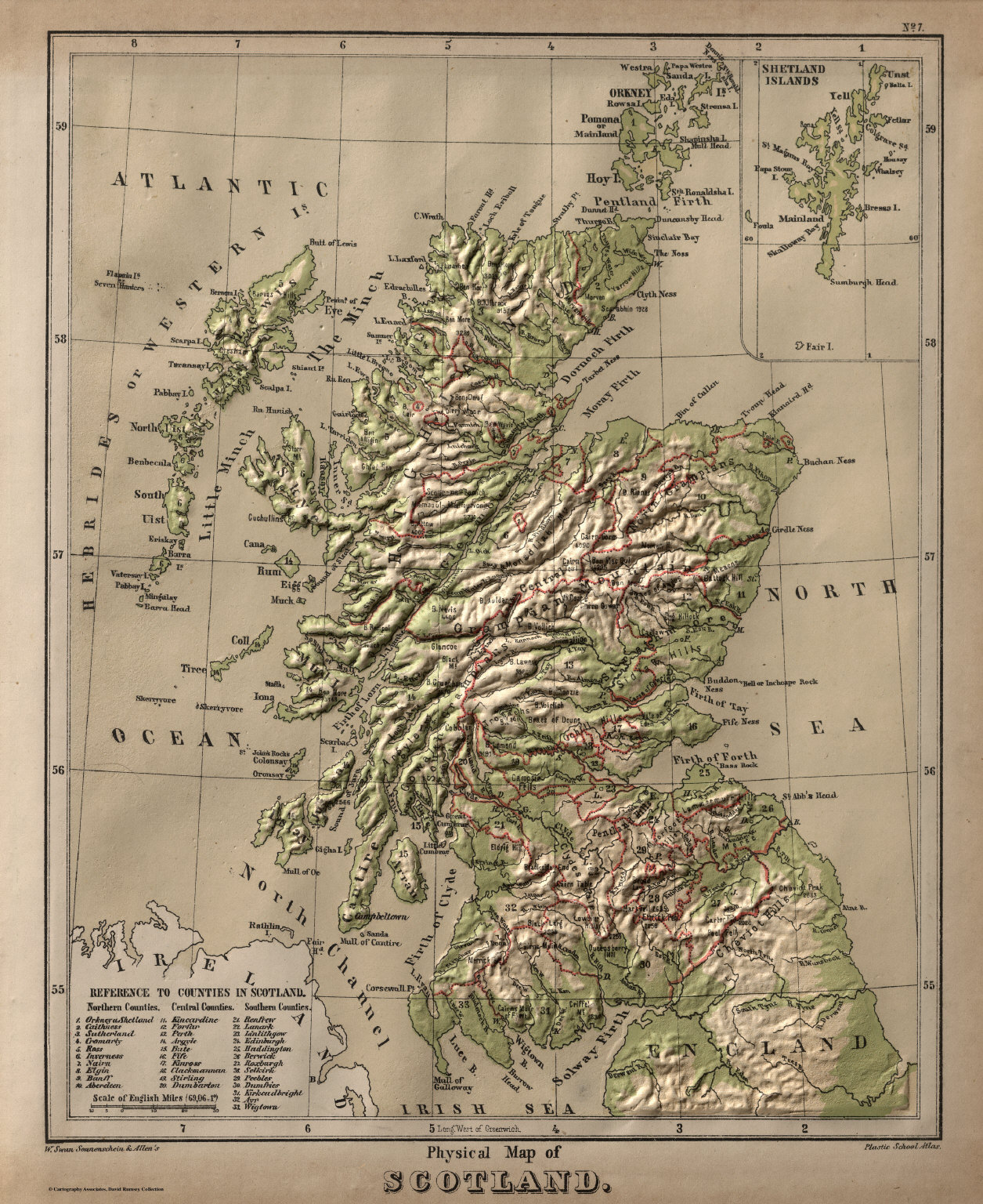 It's just a picture of Printable Map of Scotland in blank